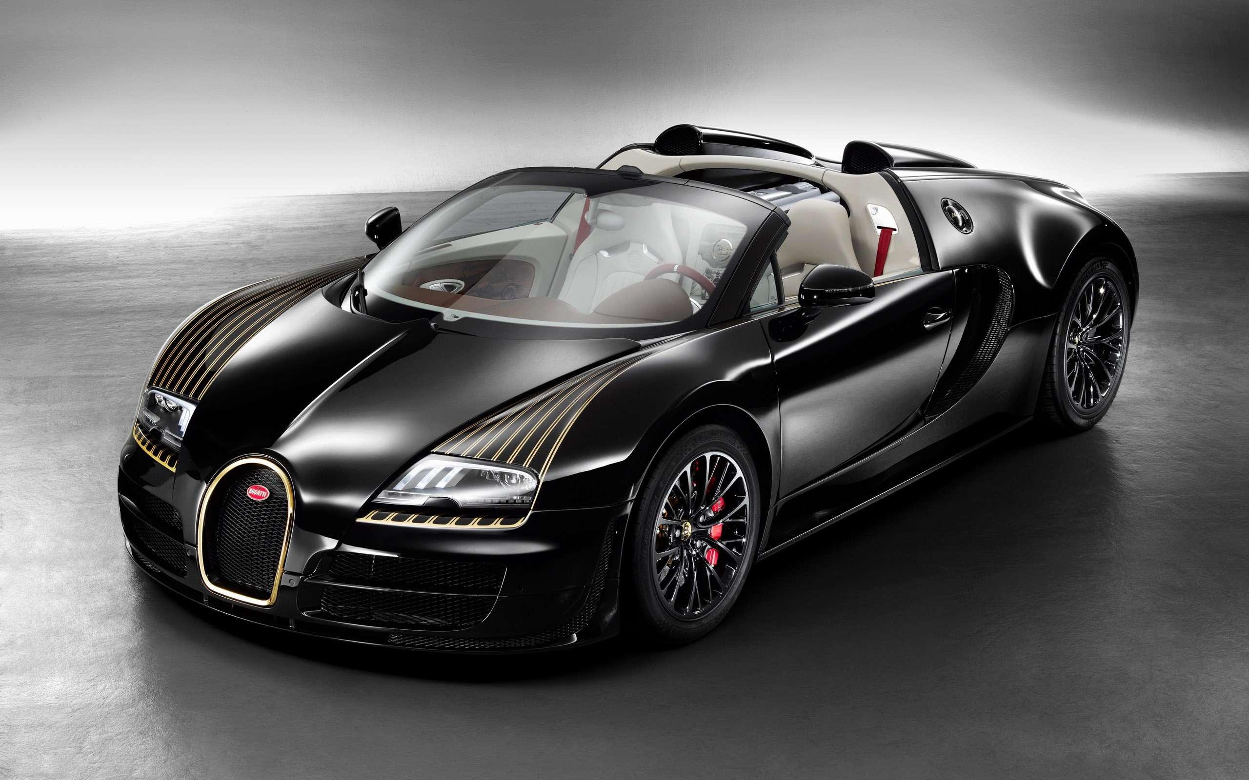 Wallpaper Bugatti Veyron Grand Sport Vitesse Black Bess