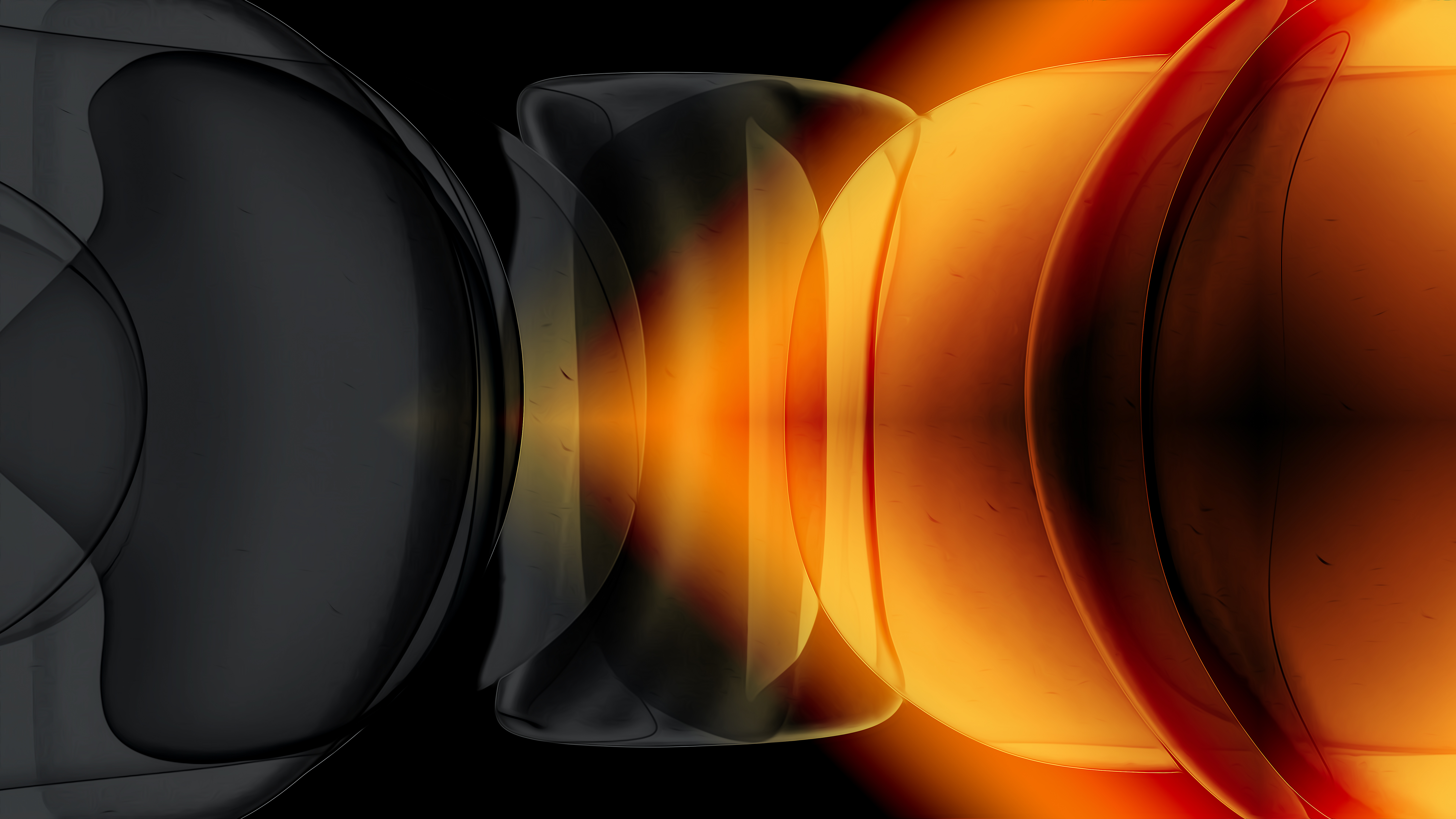 Fondos de pantalla Burbujas en diferentes figuras geometricas