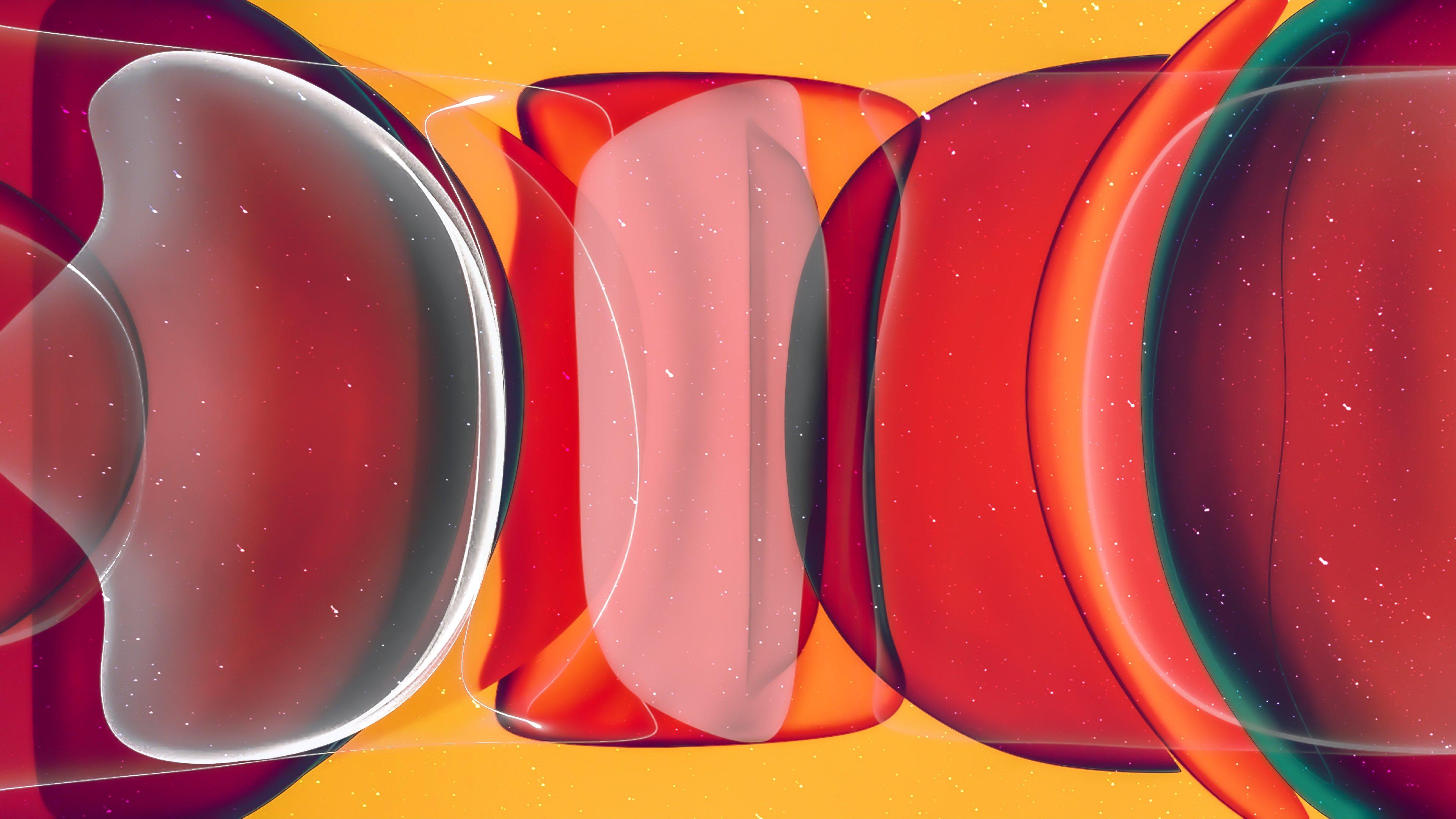 Fondos de pantalla Burbujas rojas abstractas