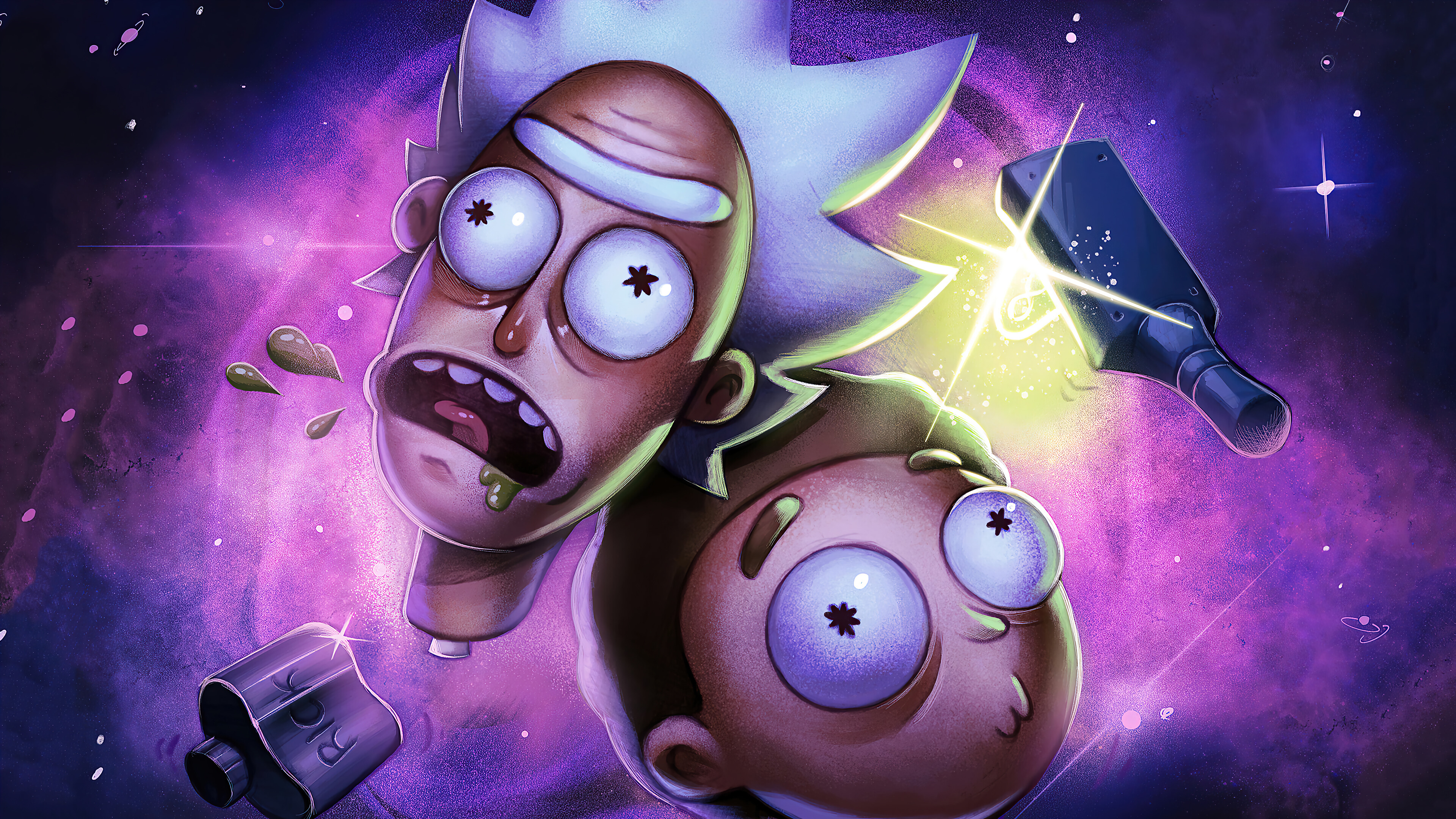 Fondos de pantalla Cabezas de Rick and Morty