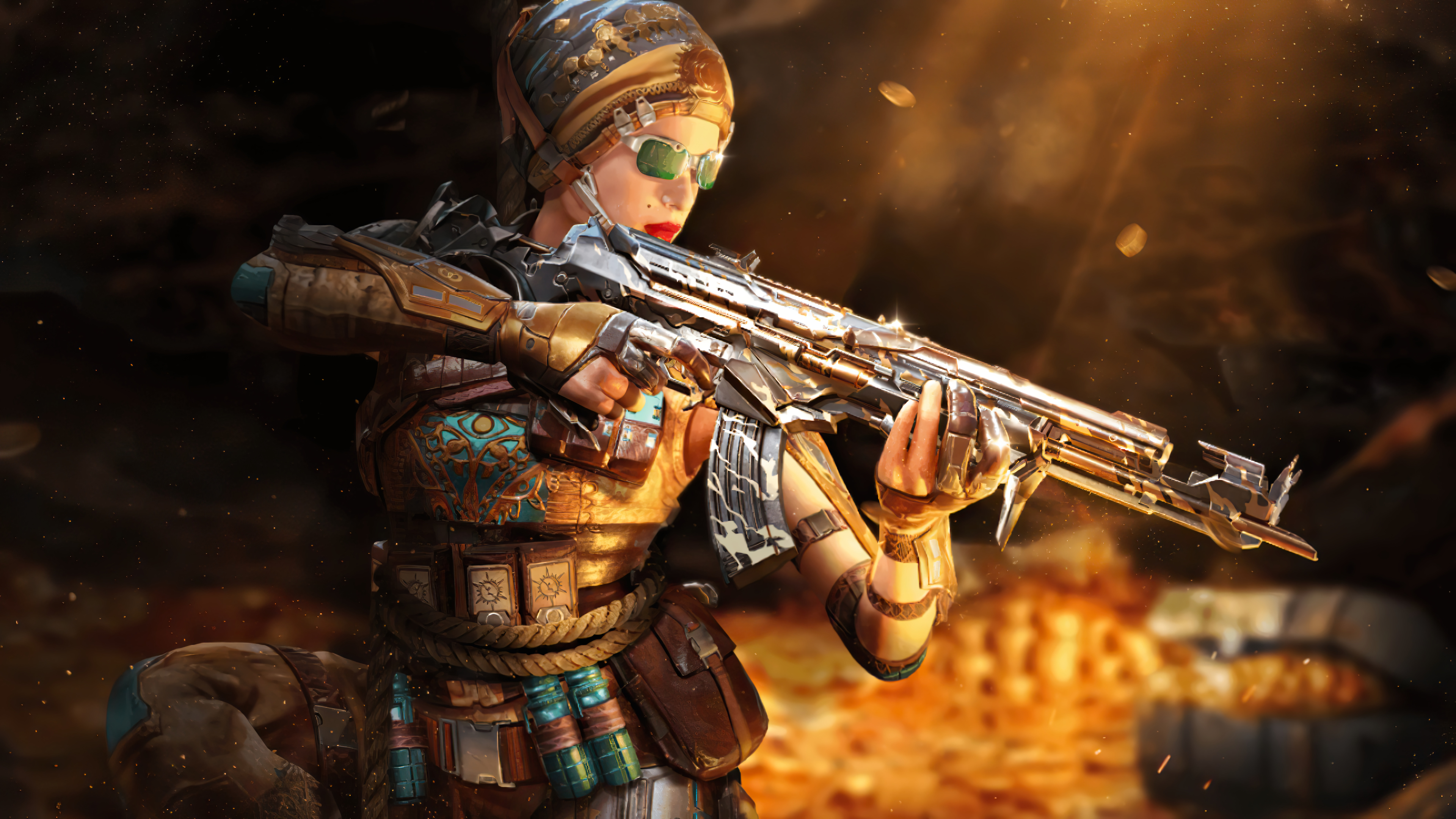 Fondos de pantalla Call of Duty Mobile Outrider Mystic Skin