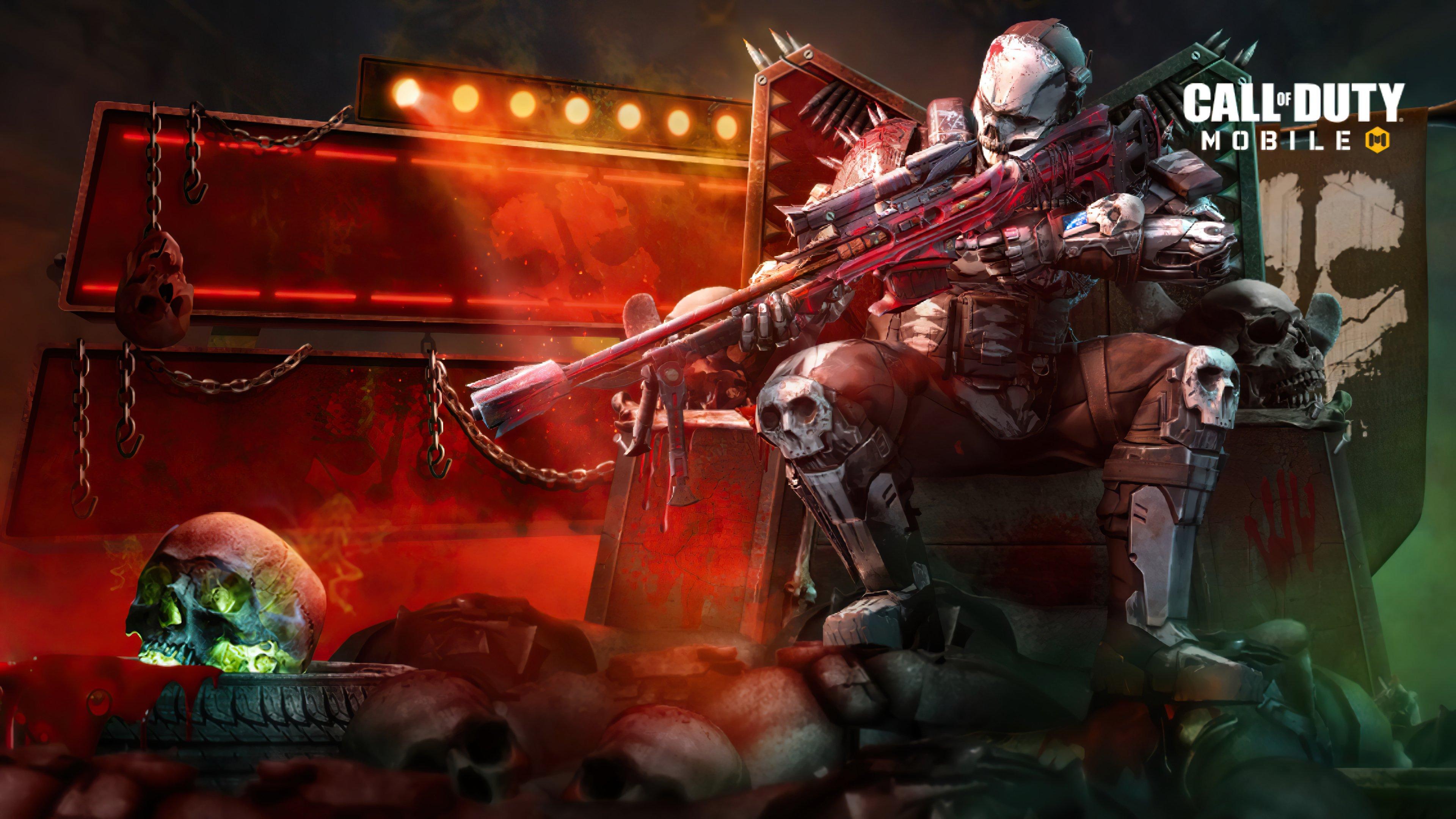Fondos de pantalla Call of Duty Mobile rune bone warrior
