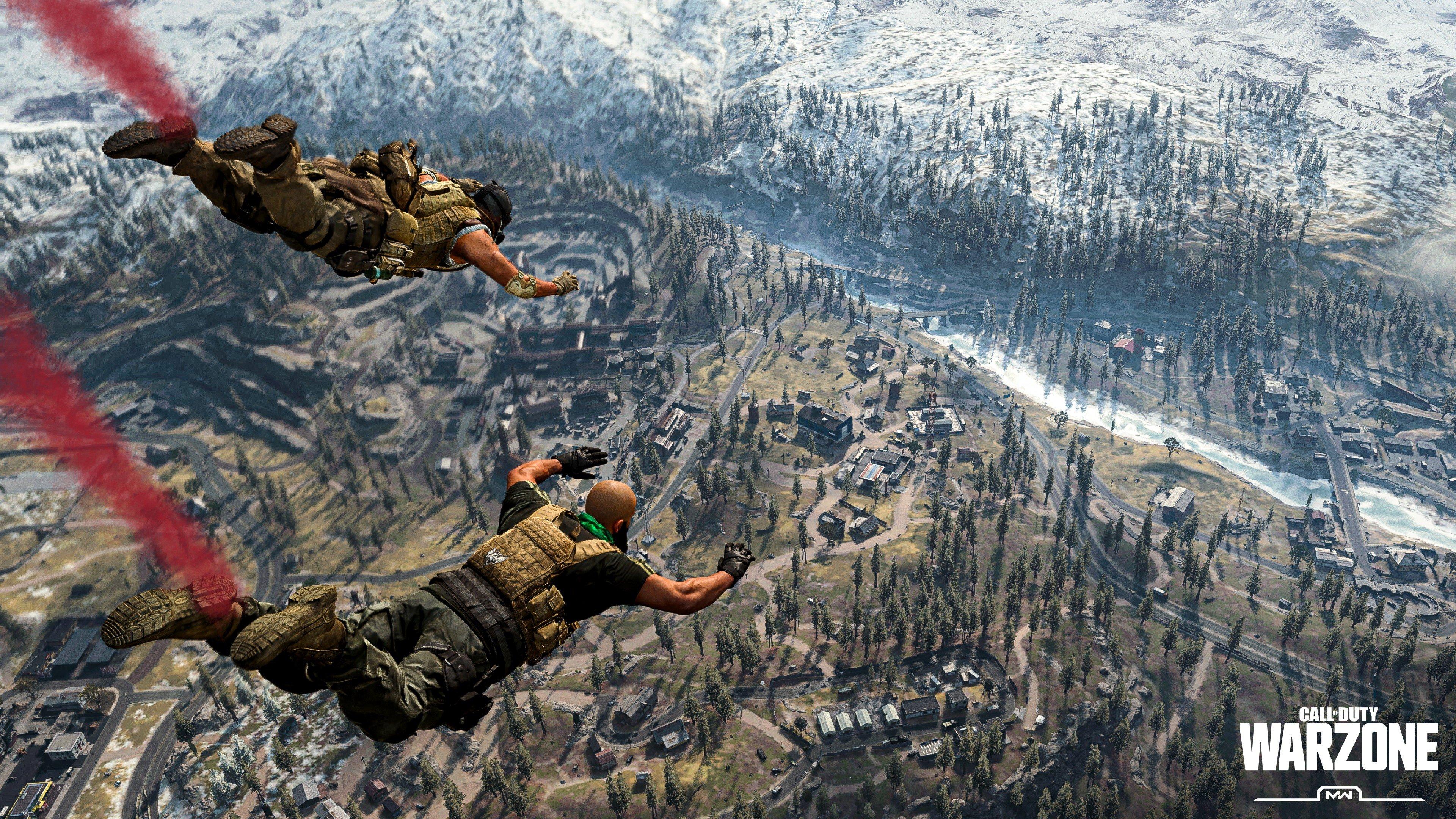 Fondos de pantalla Call of Duty Warzone Skydive