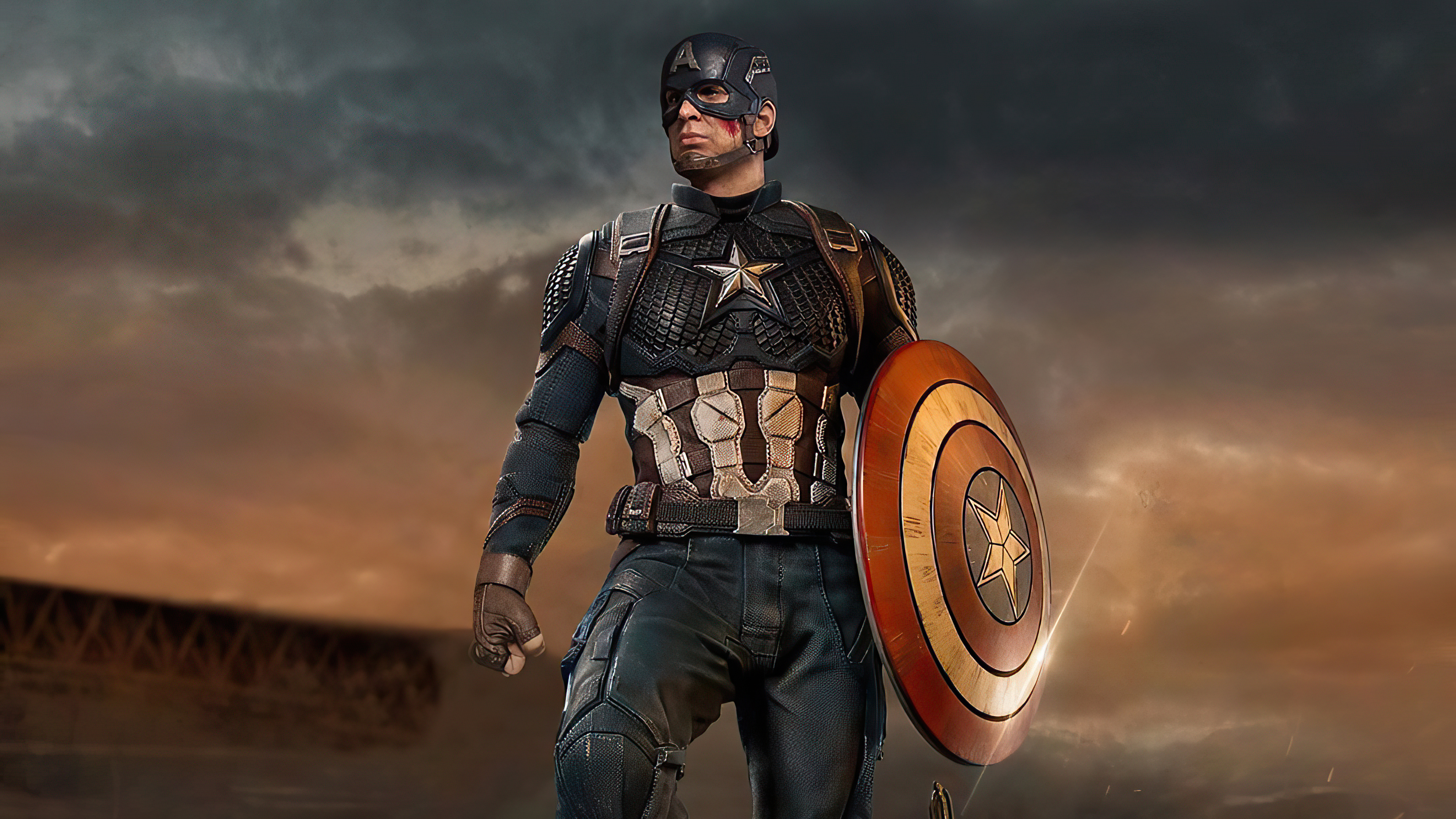 Wallpaper Captain America with shield