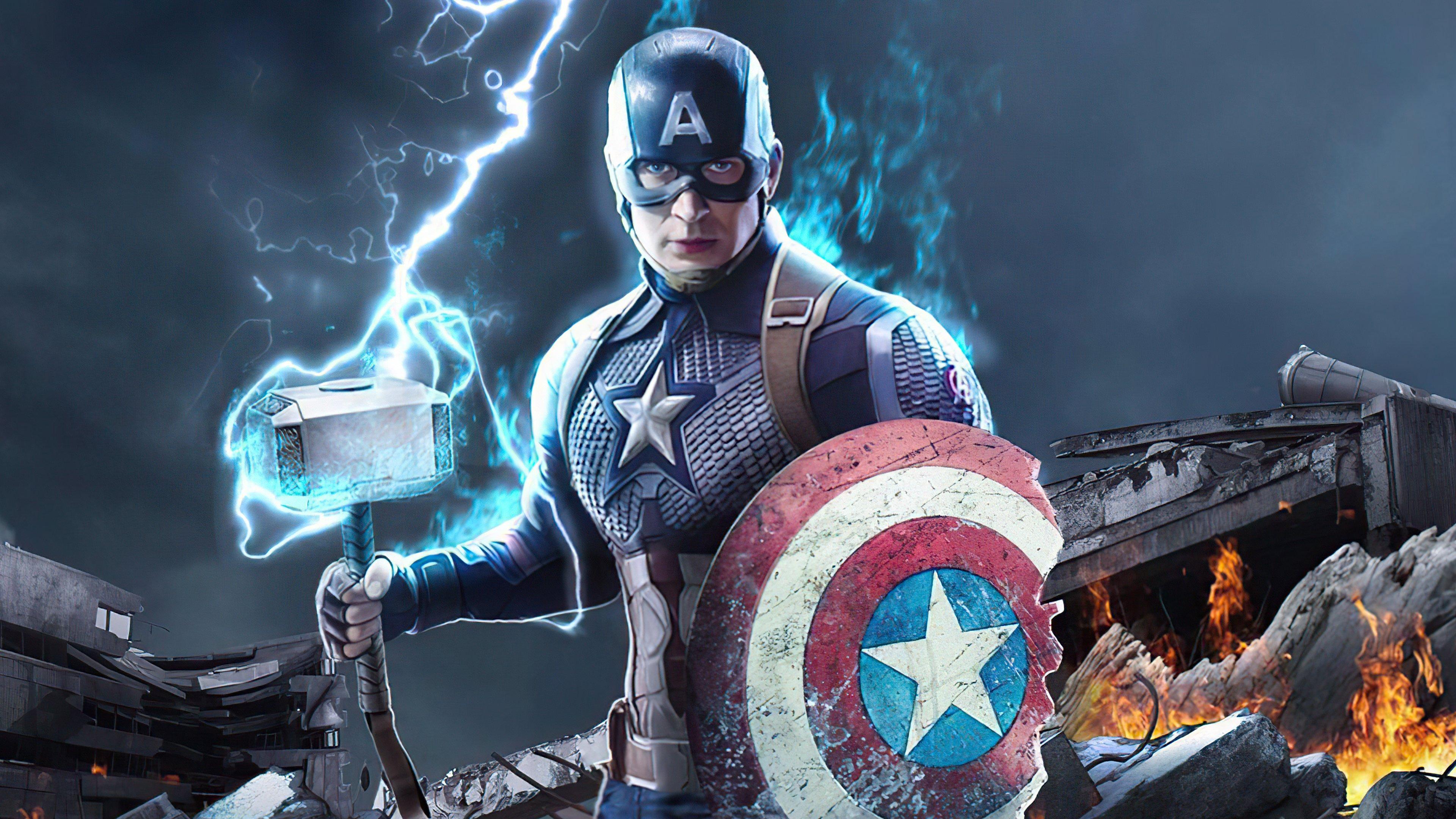 Fondos de pantalla Capitan America con escudo roto