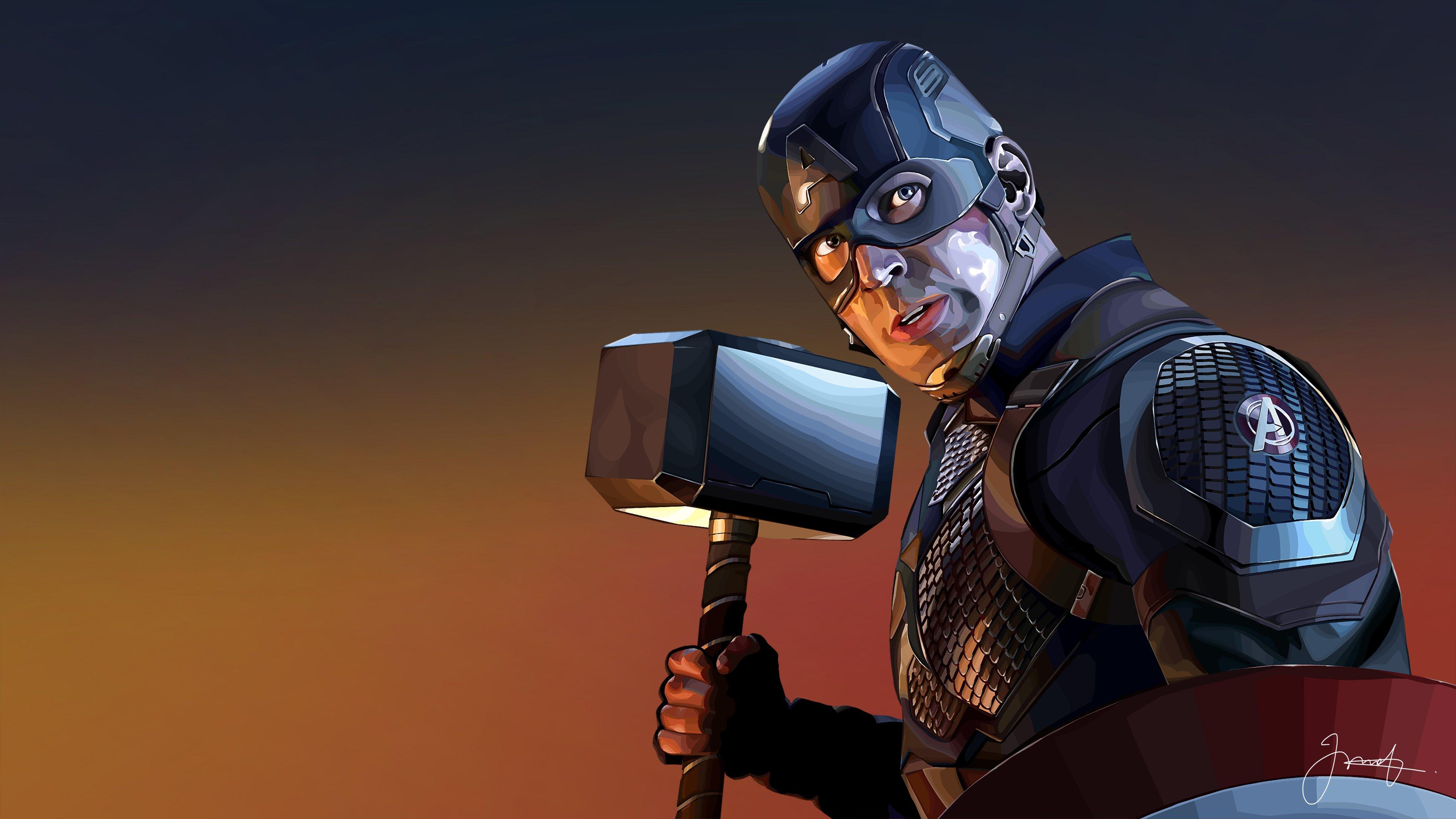 Fondos de pantalla Capitan America con martillo