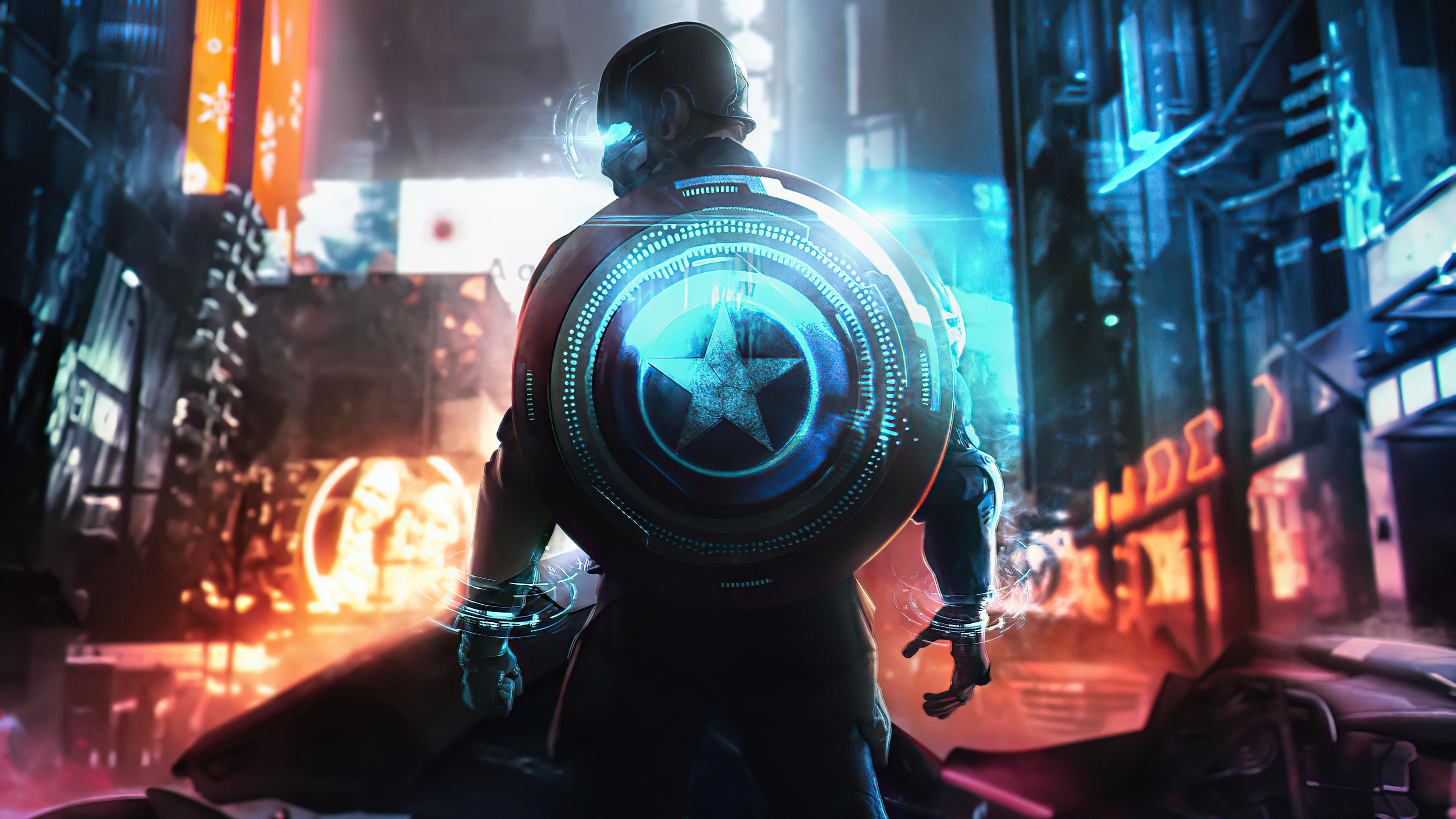 Fondos de pantalla Capitan America Cyberpunk