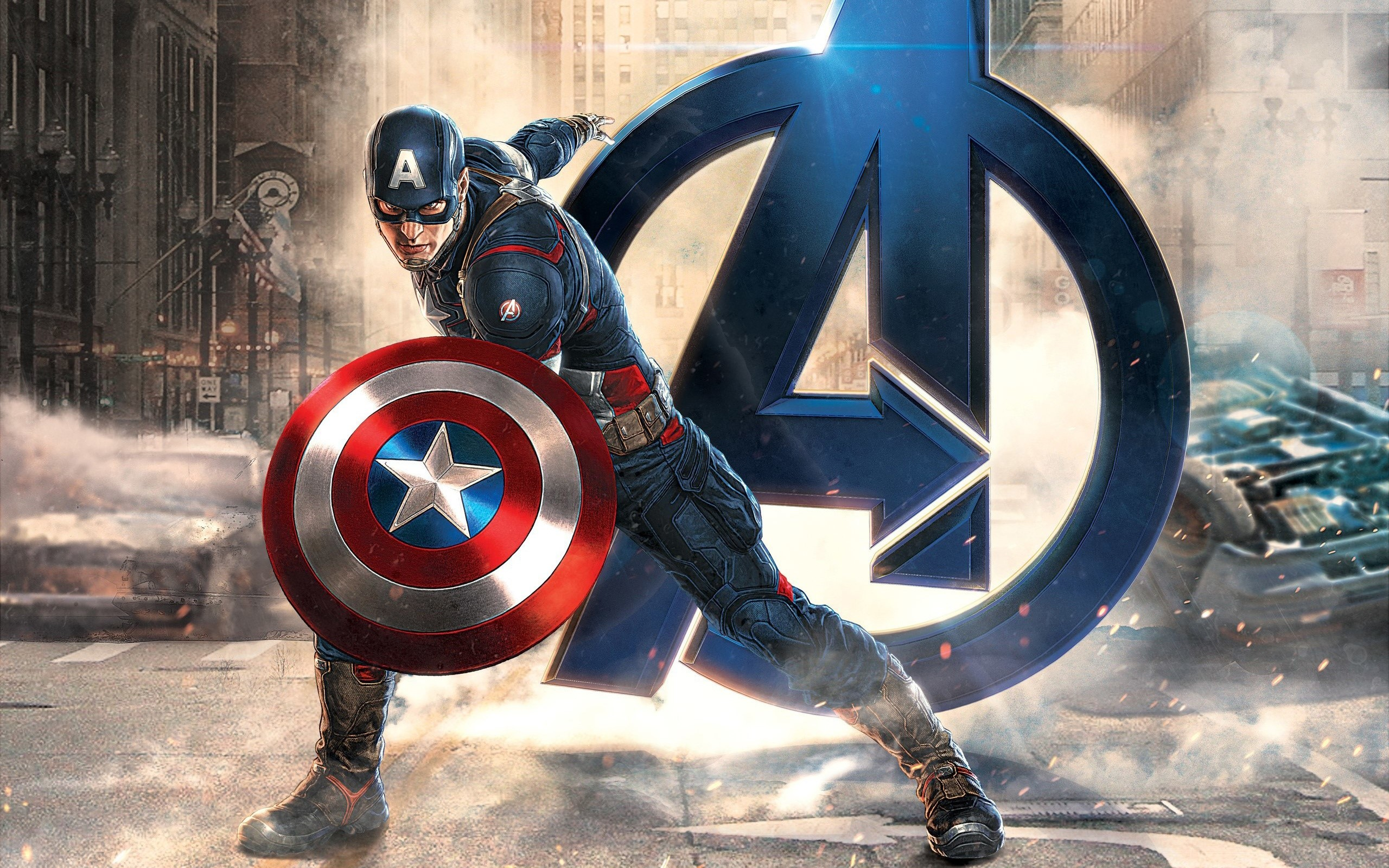 Wallpaper Captain America at Avengers