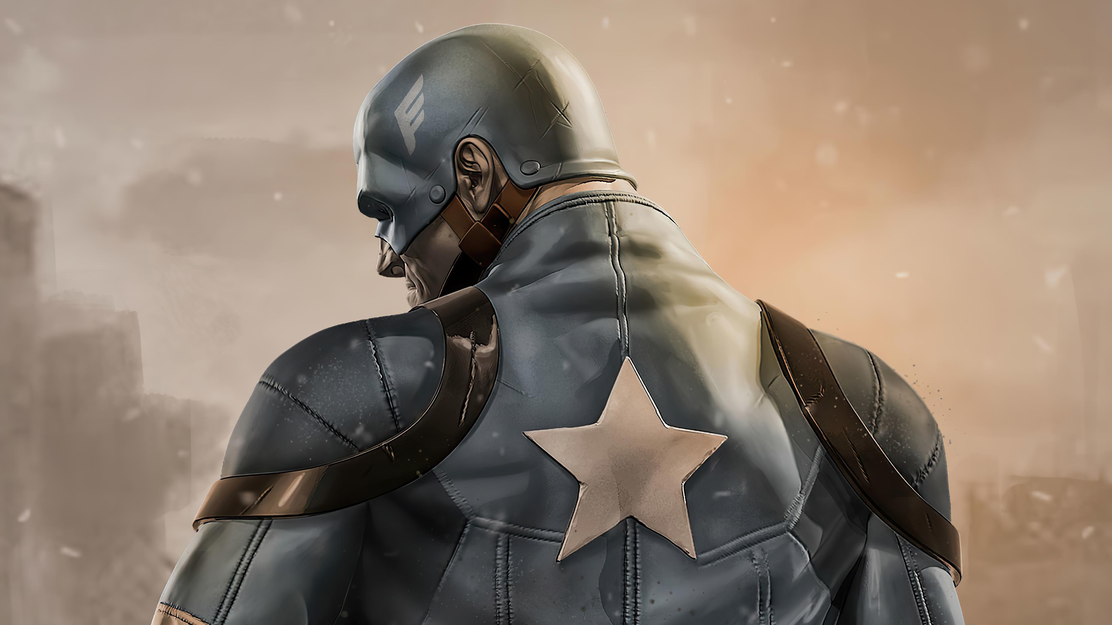 Fondos de pantalla Capitán America en campo de batalla
