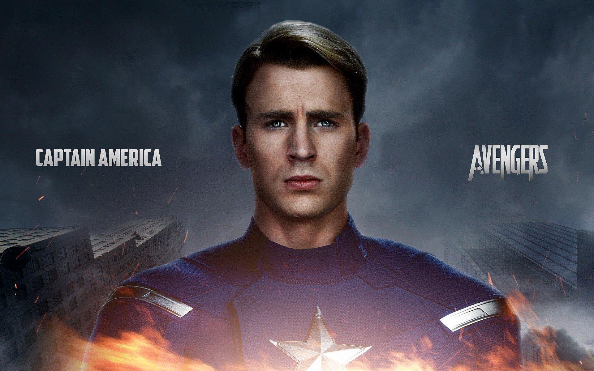 Wallpaper Captain America in The Avengers 2