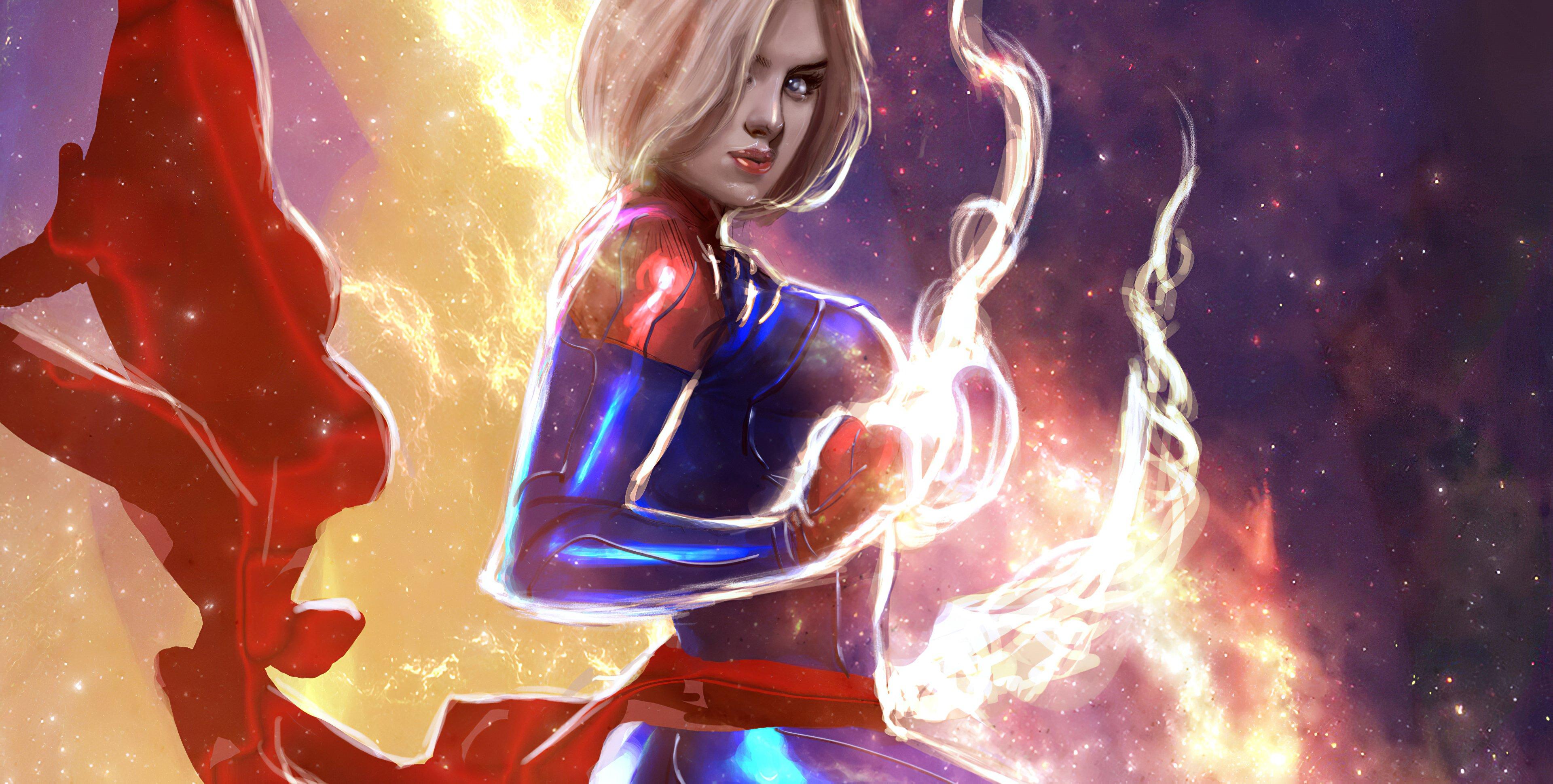 Wallpaper Captain Marvel Artwork 2020
