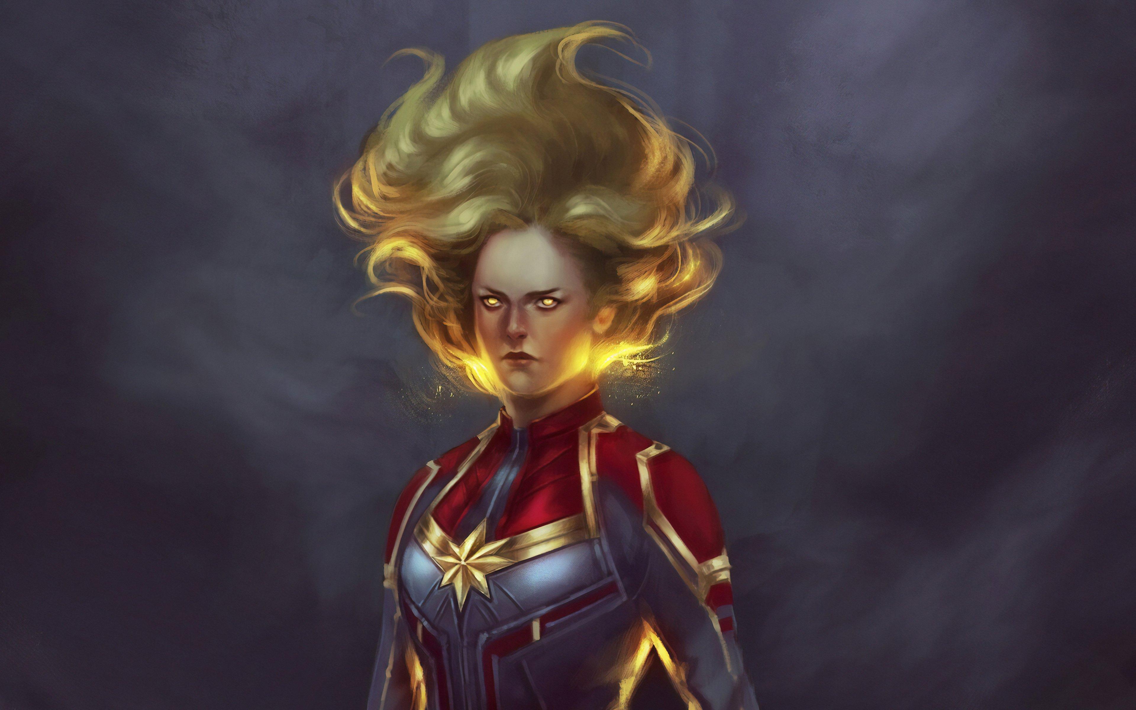 Wallpaper Captain Marvel Artwork
