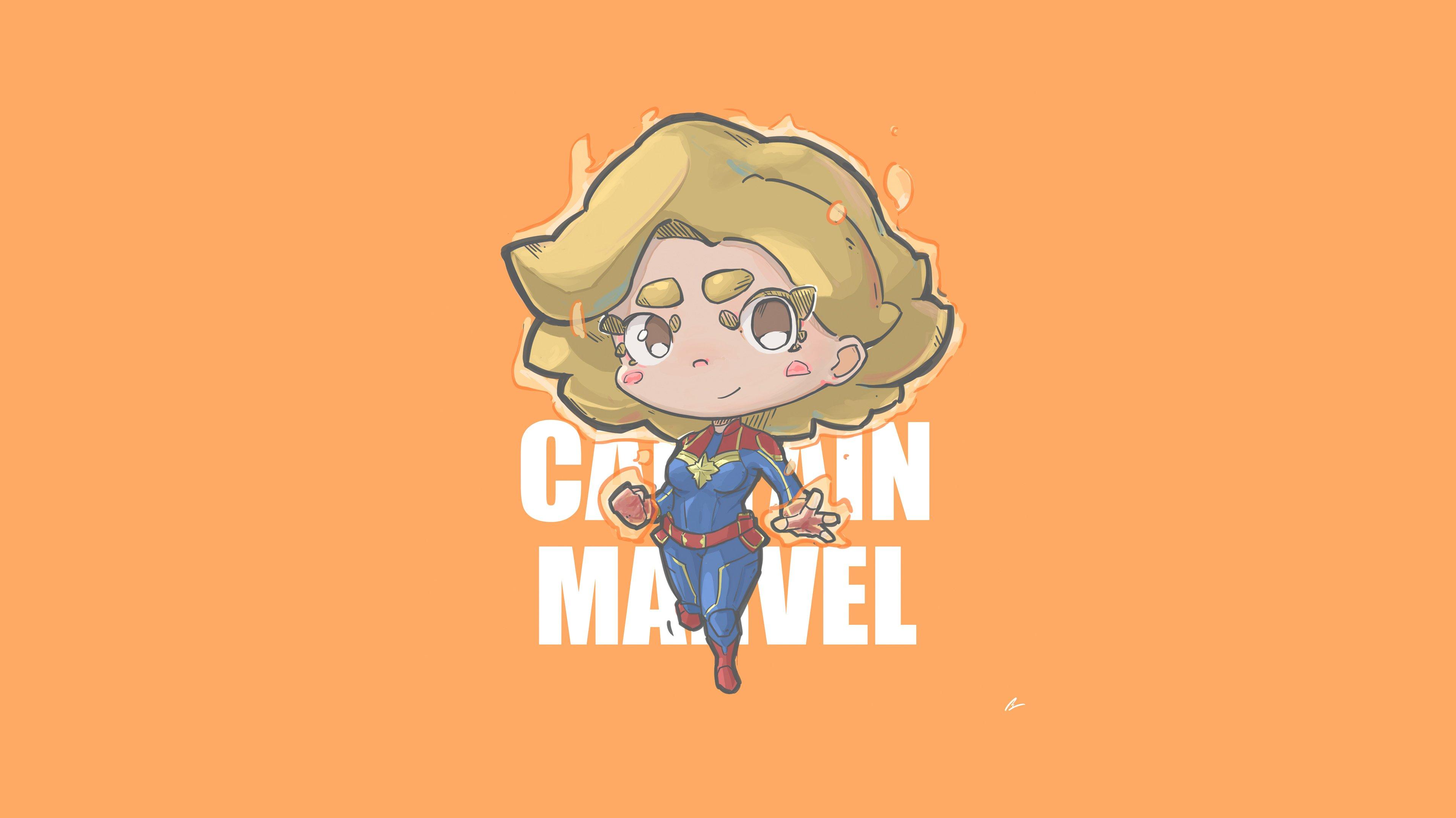 Fondos de pantalla Capitana Marvel Minimalista