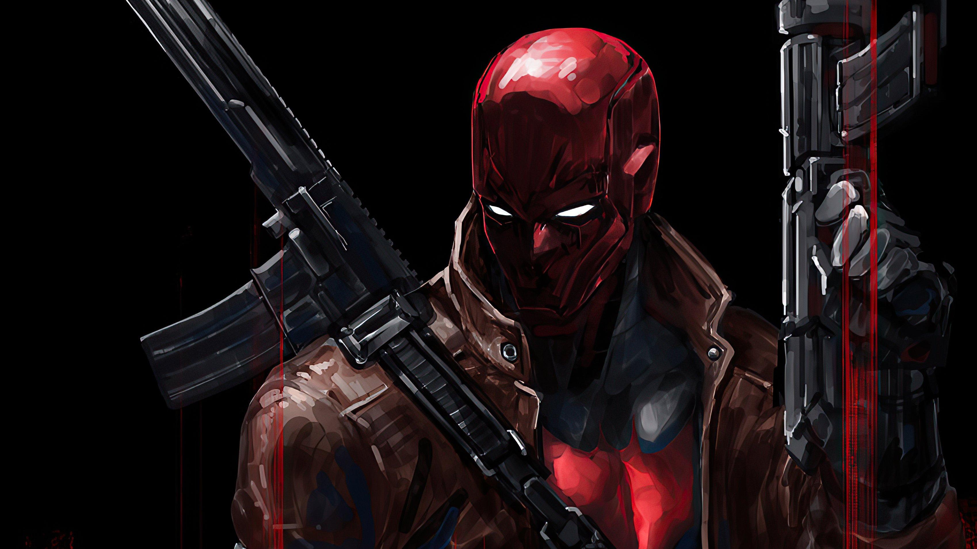 Fondos de pantalla Capucha roja con arma