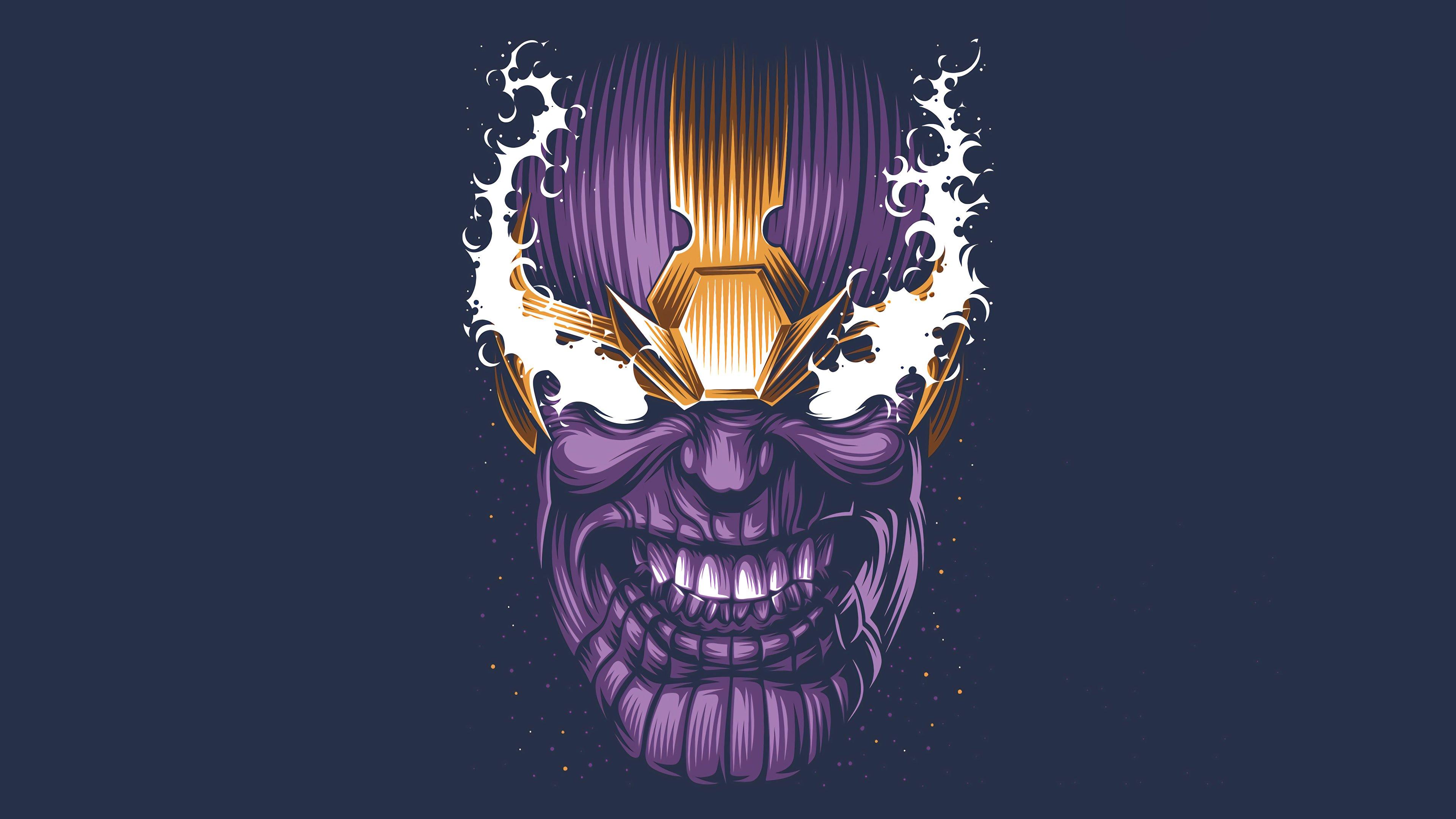 Fondos de pantalla Cara de Thanos Minimalista
