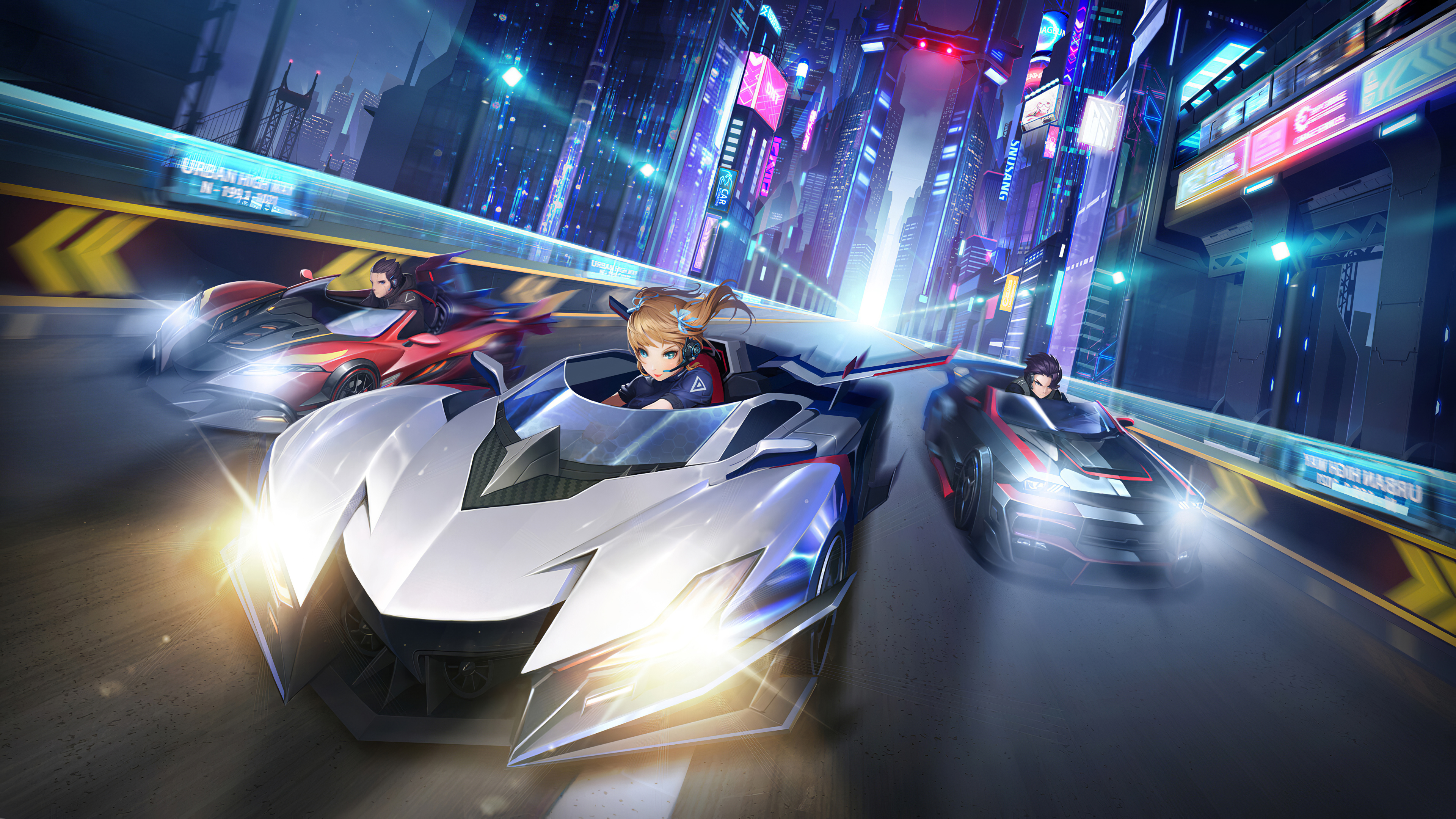 Fondos de pantalla Carrera de autos anime