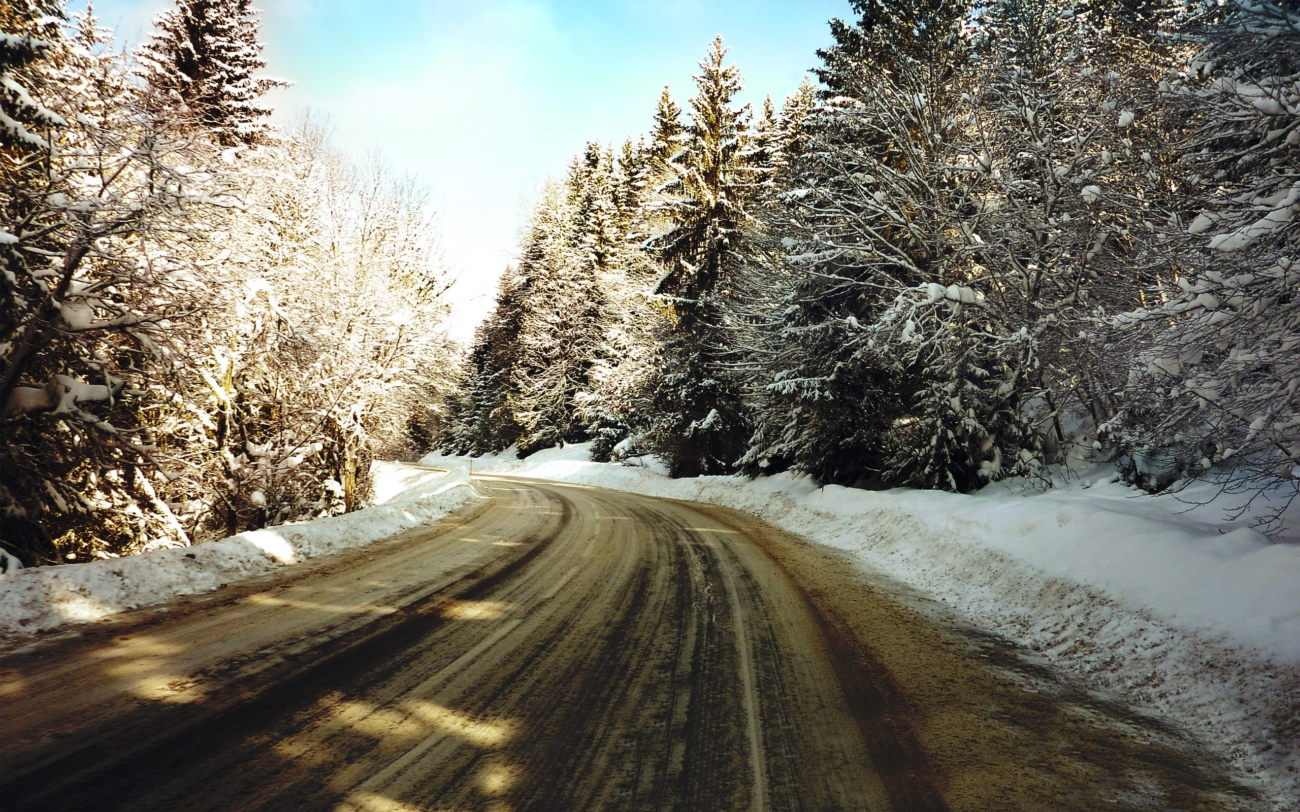Wallpaper Frozen road