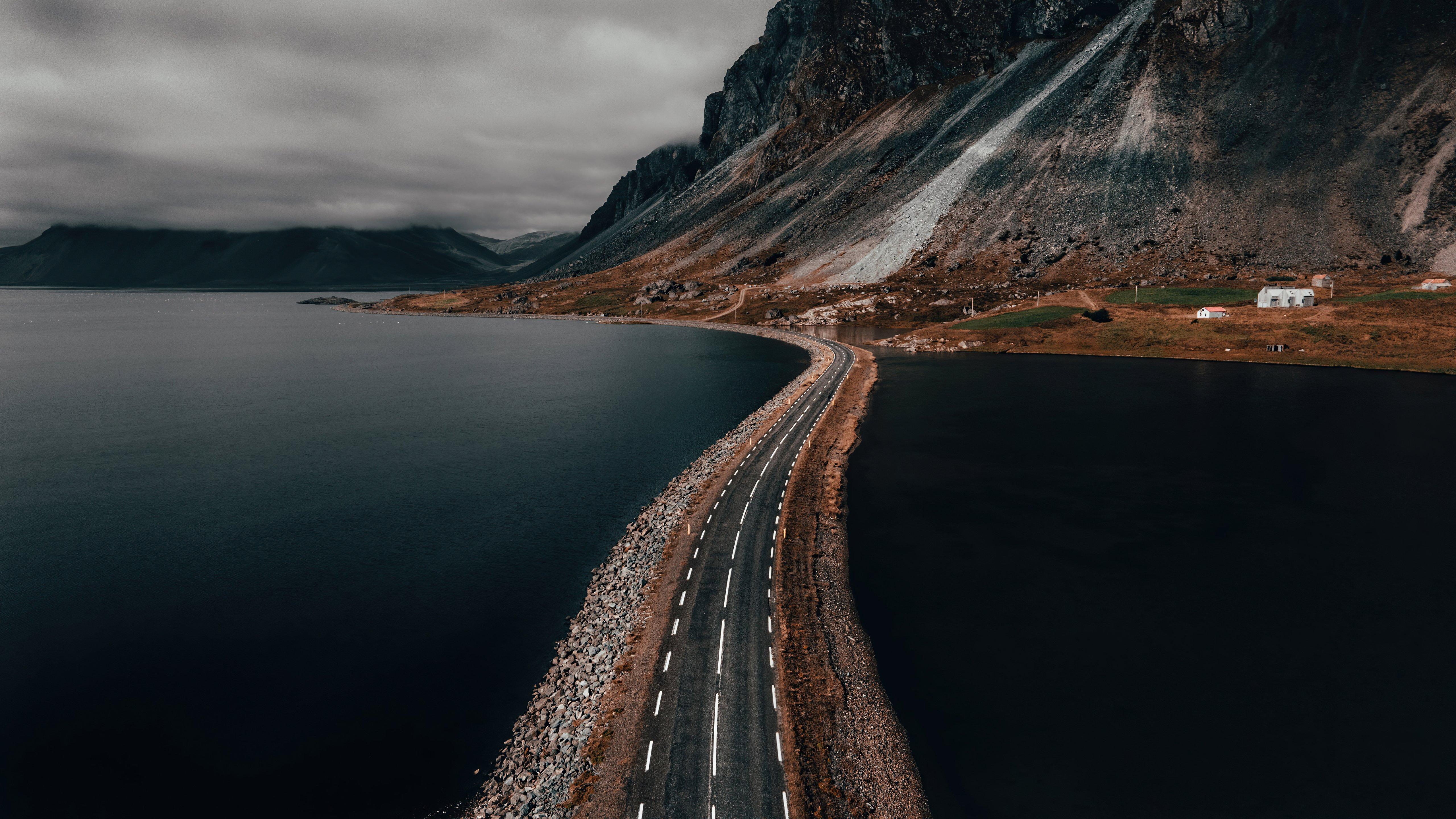 Fondos de pantalla Carretera en medio del mar