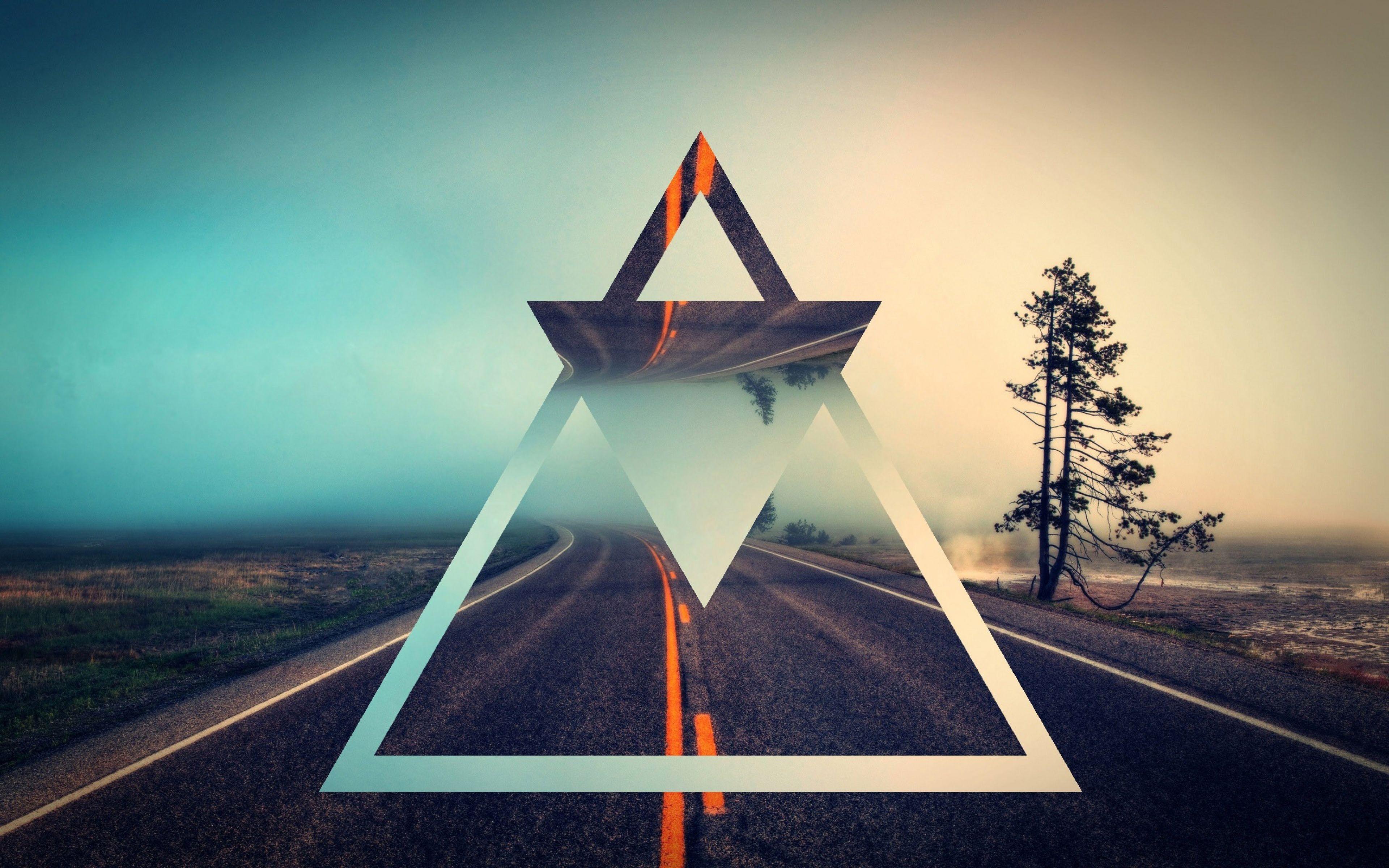 Fondos de pantalla Carretera triángulos