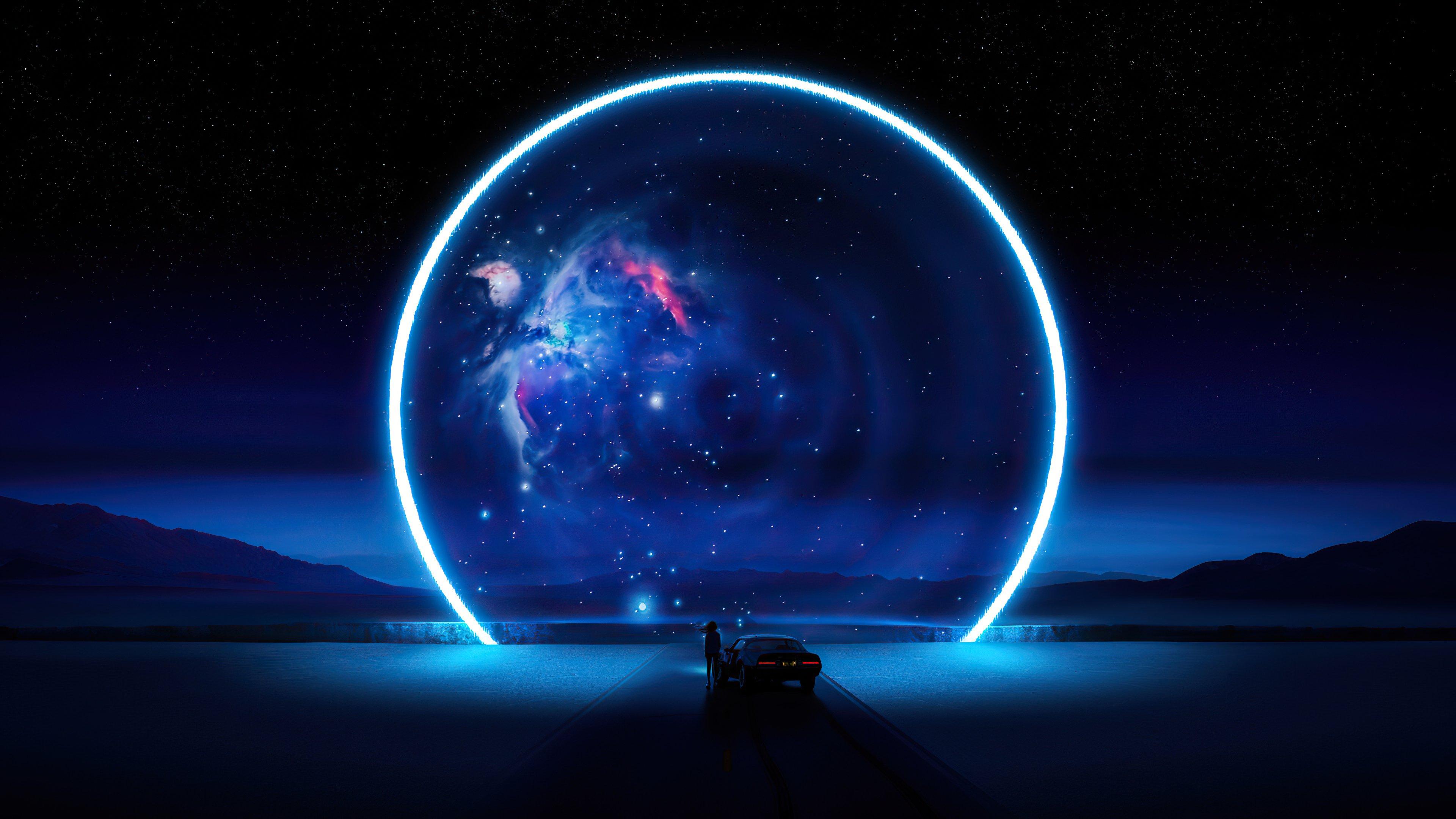 Fondos de pantalla Carretra con Aro de universo azul