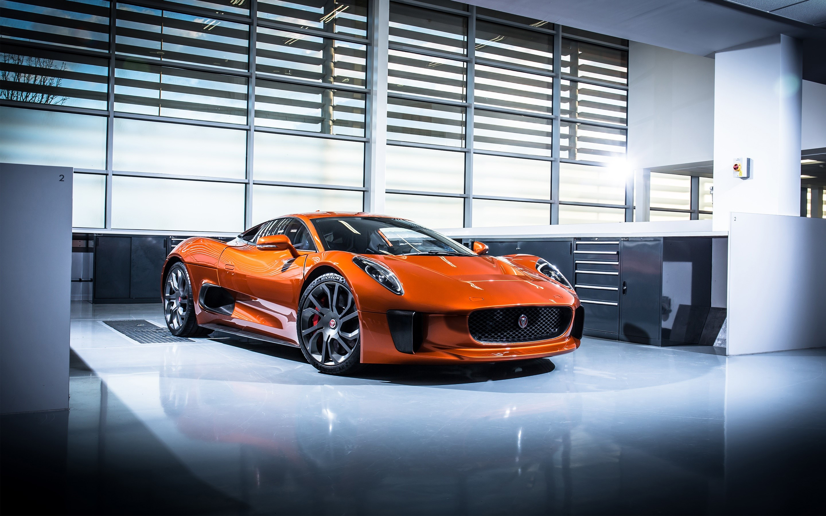 Wallpaper Jaguar C X75 Specter Cart