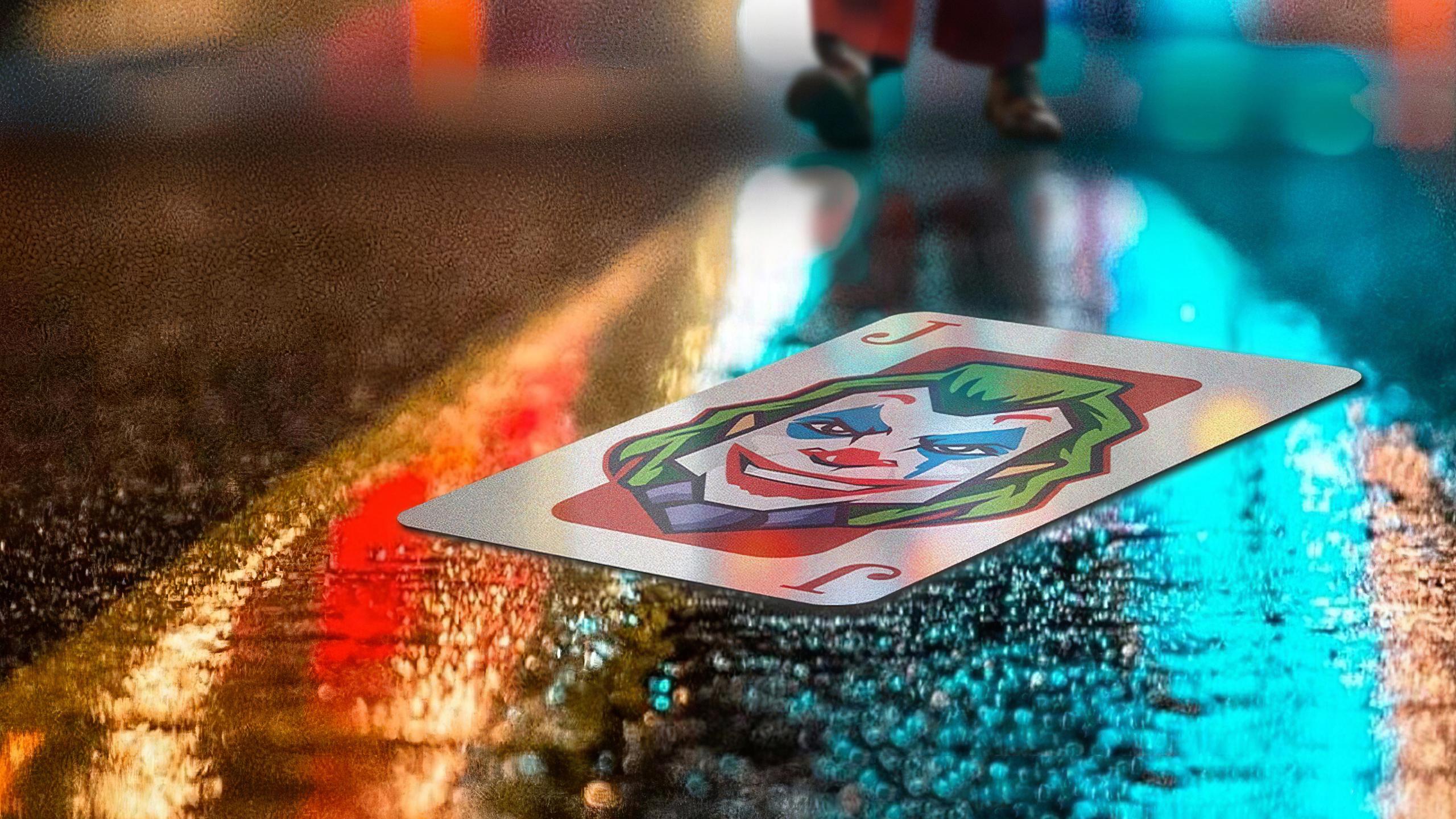 Wallpaper Joker card