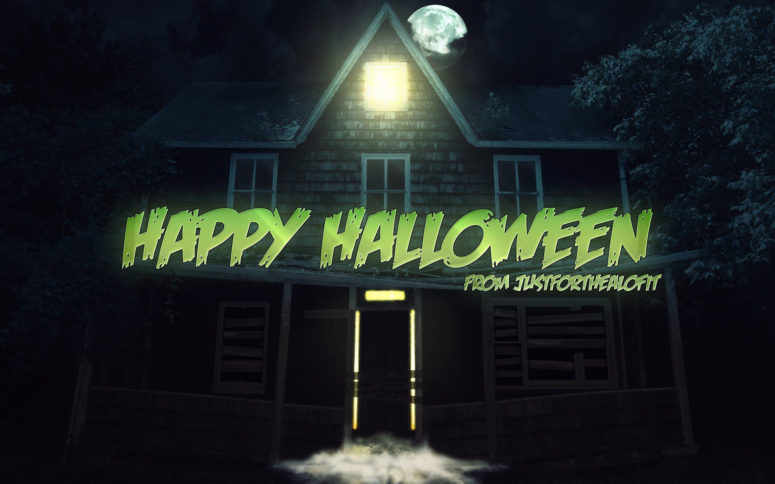 Wallpaper Haunted house
