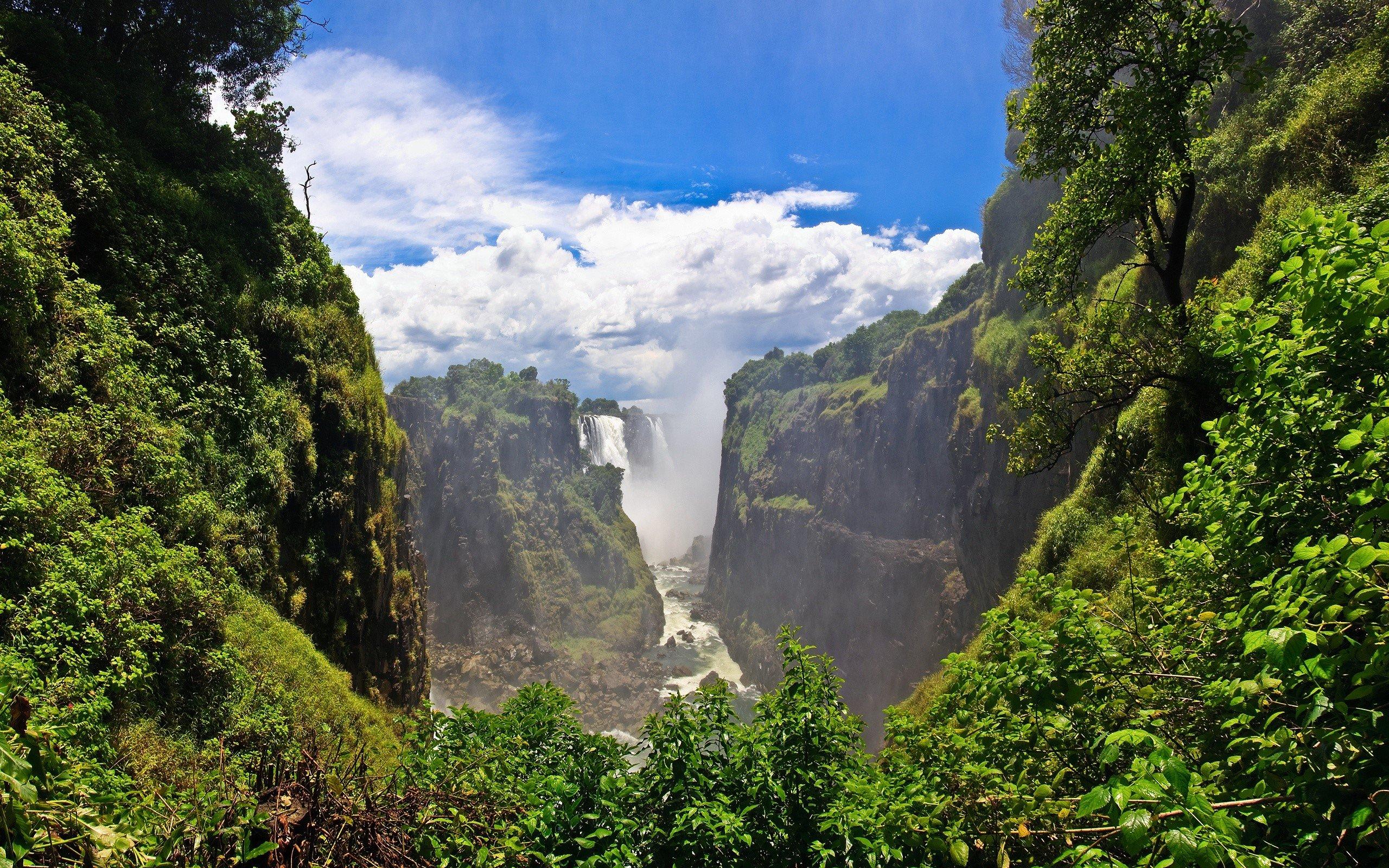 Wallpaper Victoria Falls in Zambia