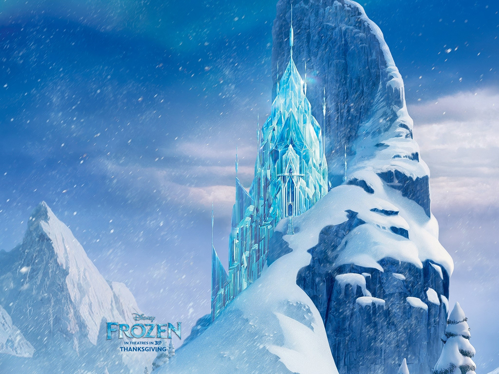 Wallpaper Ice Castle in Frozen