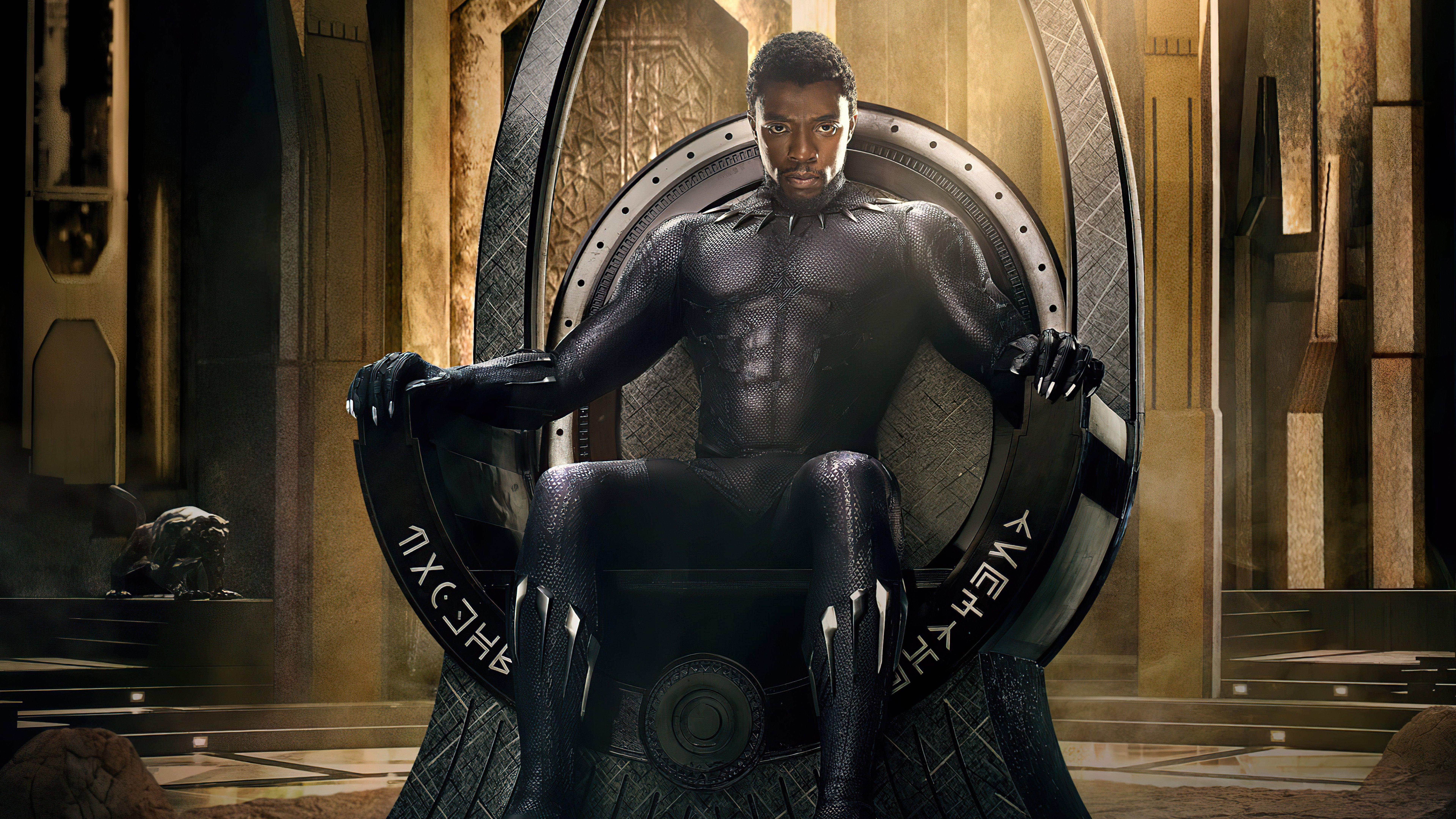 Wallpaper Chadwick Aaron Boseman Black Panther