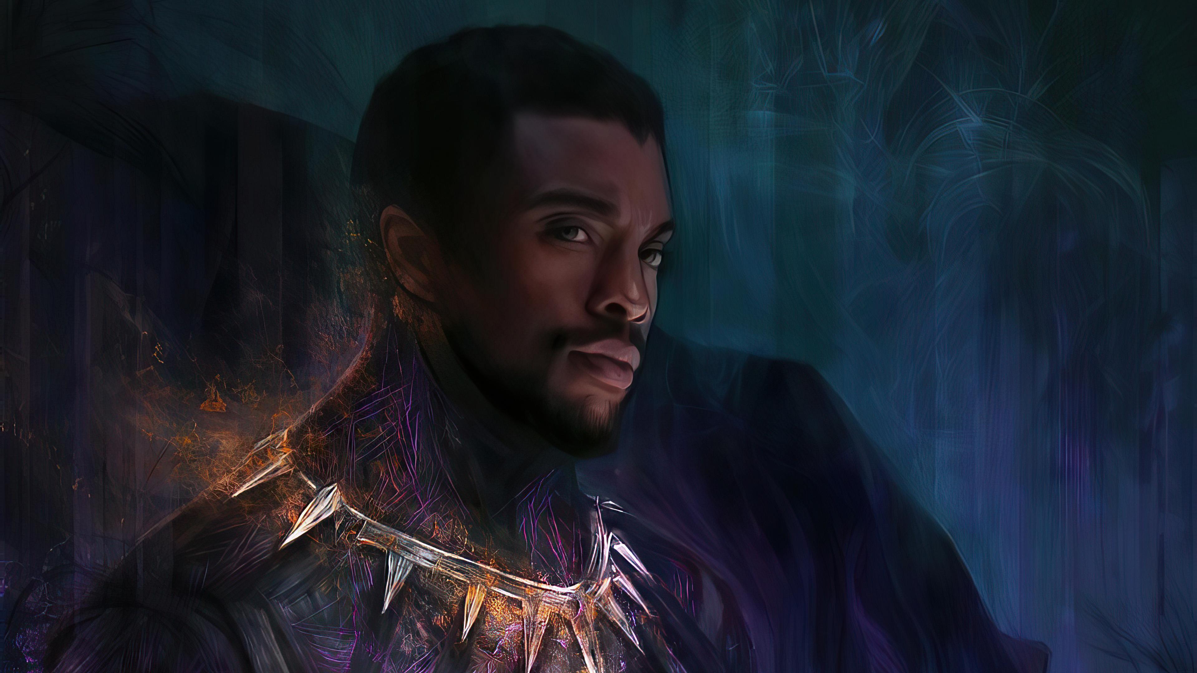 Fondos de pantalla Chadwick Boseman como Pantera Negra 2020 Fanart