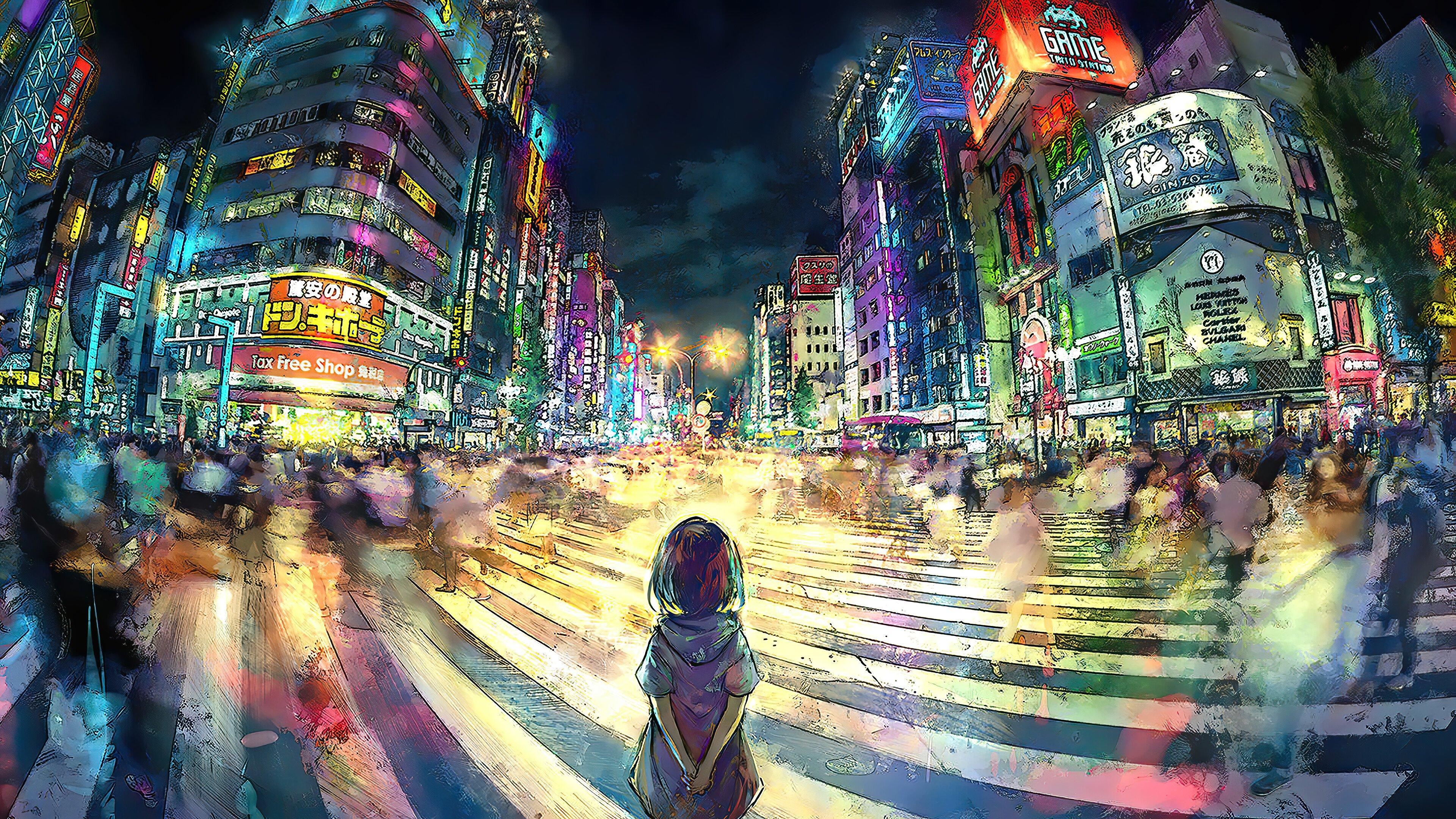 Fondos de pantalla Chica  Anime en Tokio Artwork