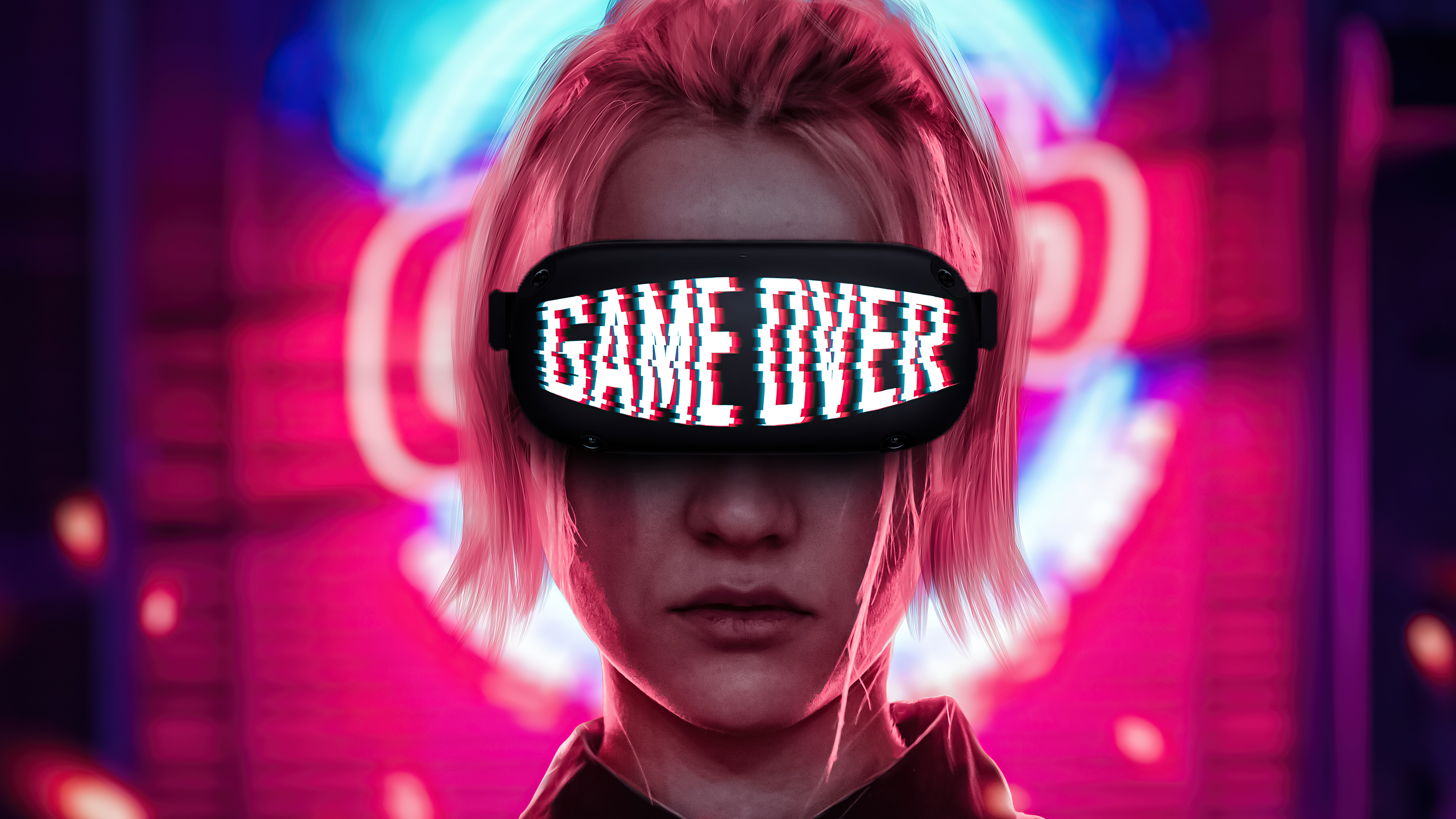 Fondos de pantalla Chica con lentes de Game Over