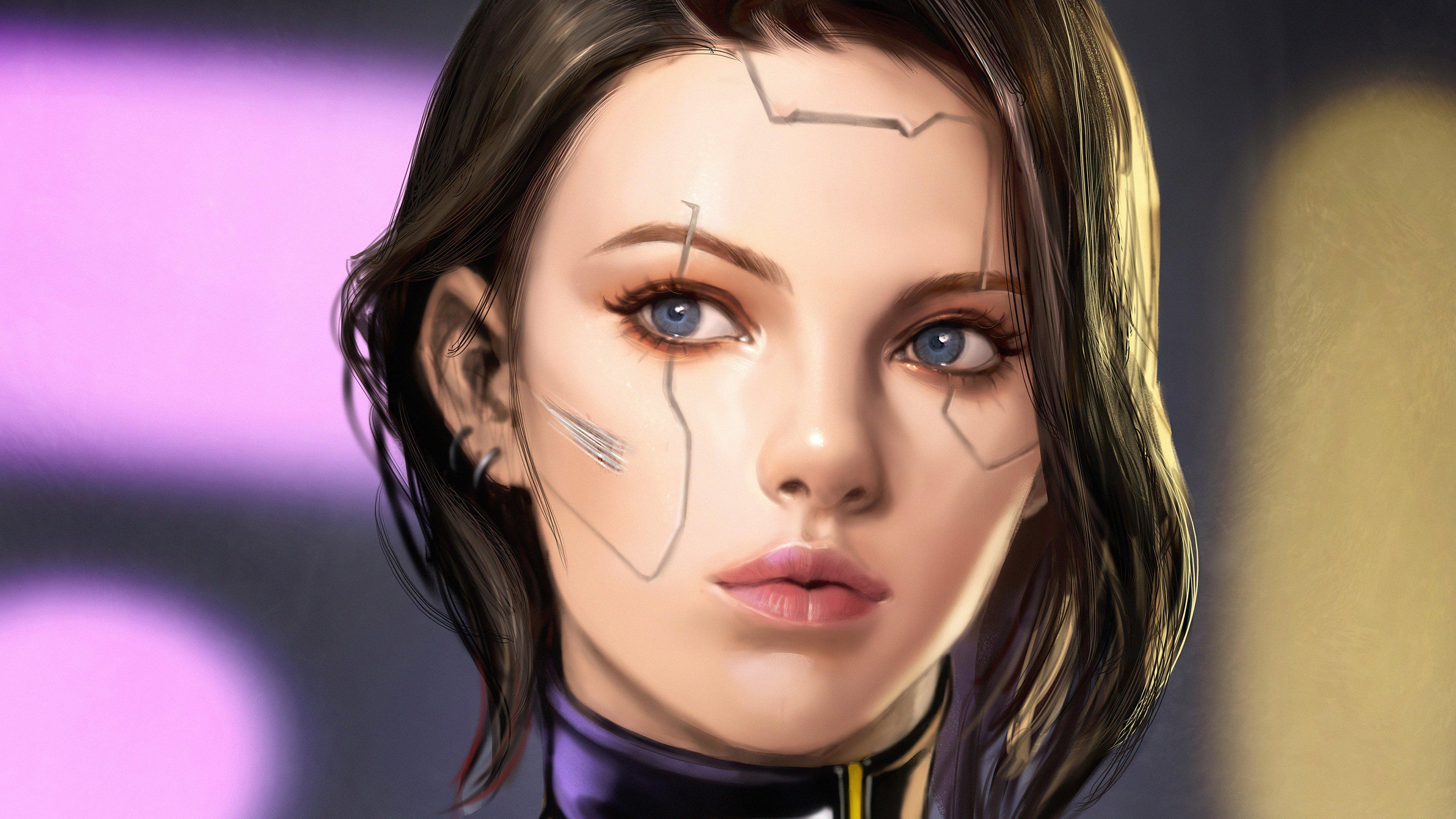 Wallpaper Cyberpunk girl