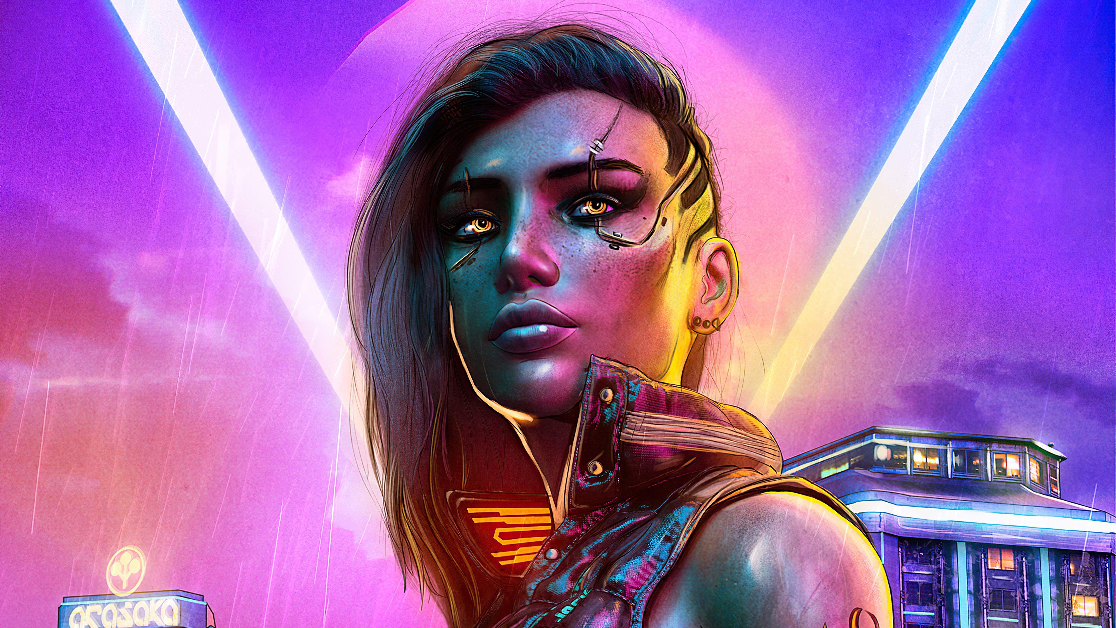 Fondos de pantalla Chica Estilo Cyberpunk 2077