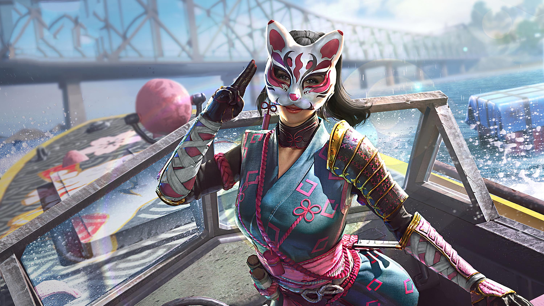 Fondos de pantalla Chica Ninja PUBG