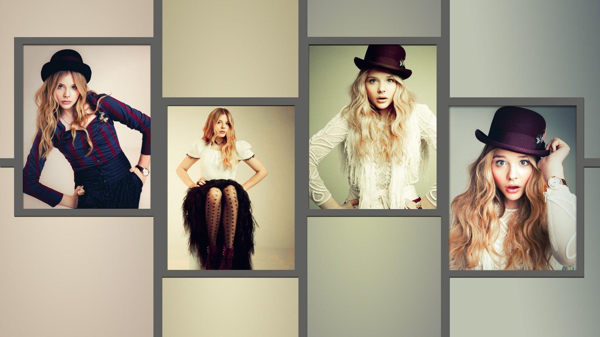 Fondos de pantalla Chloe Moretz Collage