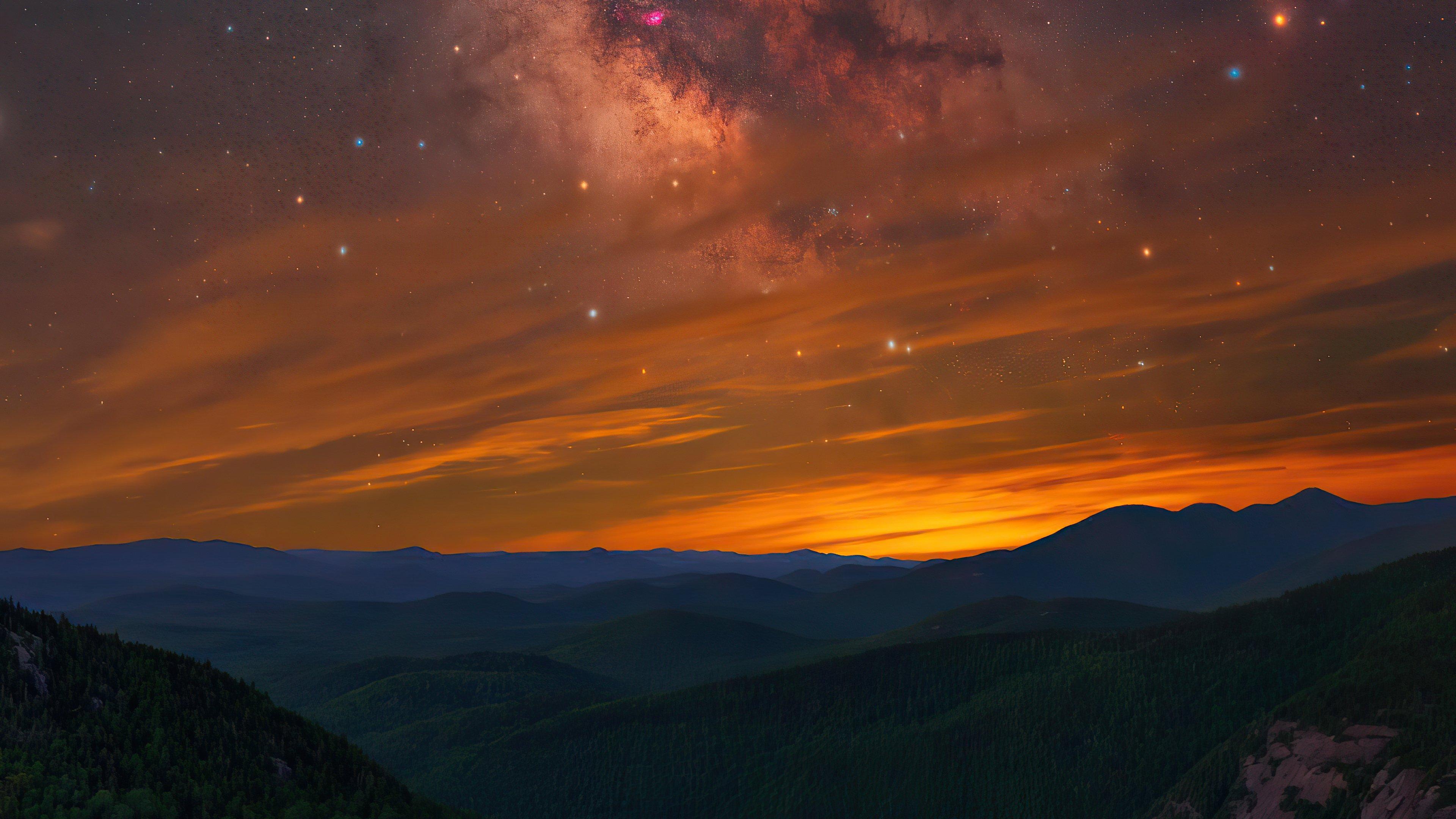 Fondos de pantalla Cielo lleno de estrellas