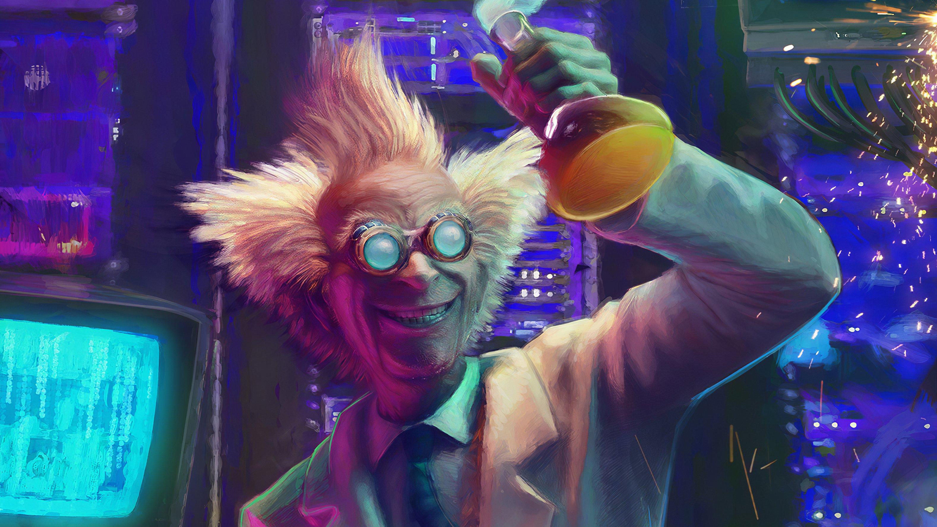 Wallpaper Mad scientist