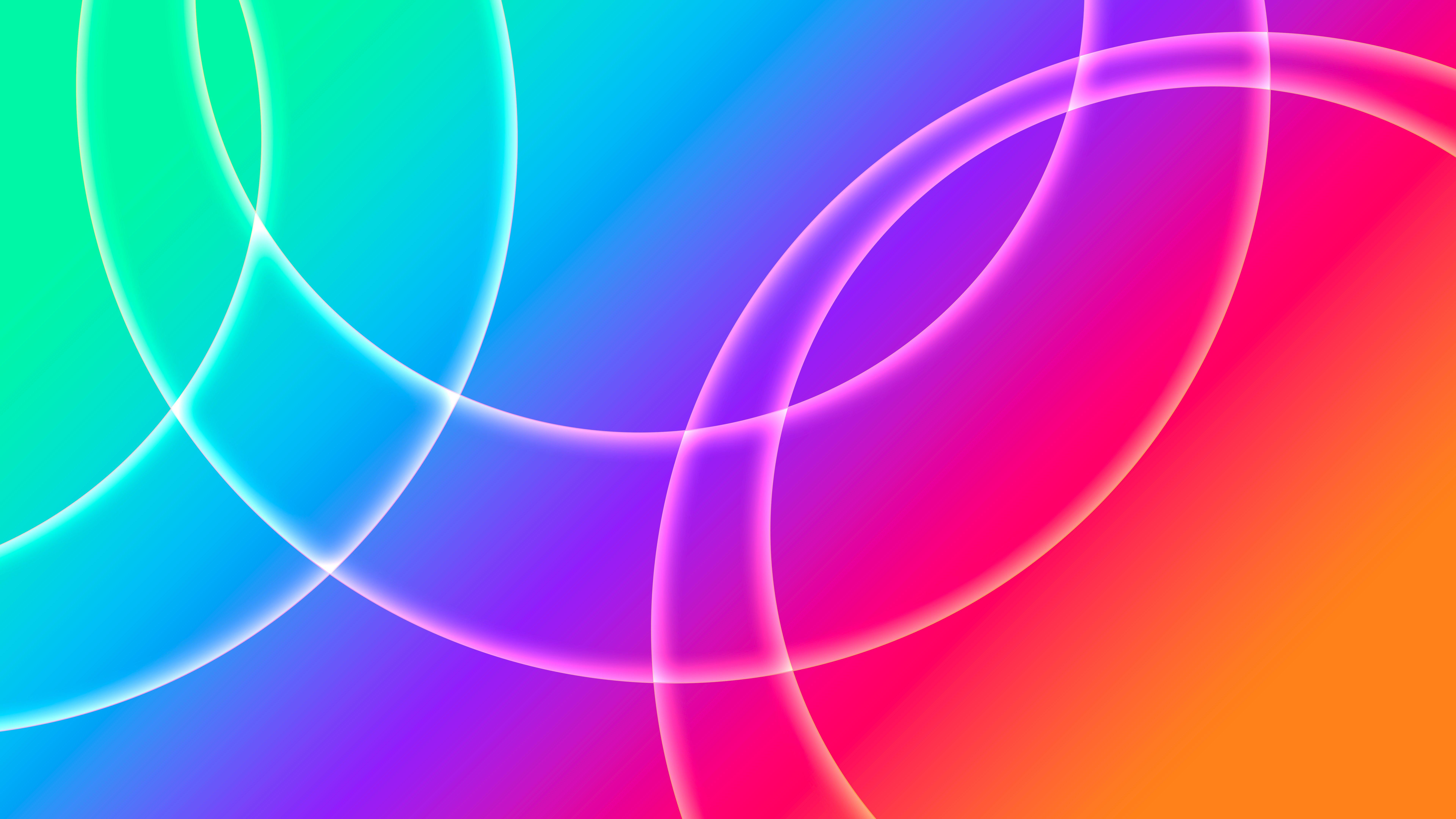 Wallpaper Circles between fading colors