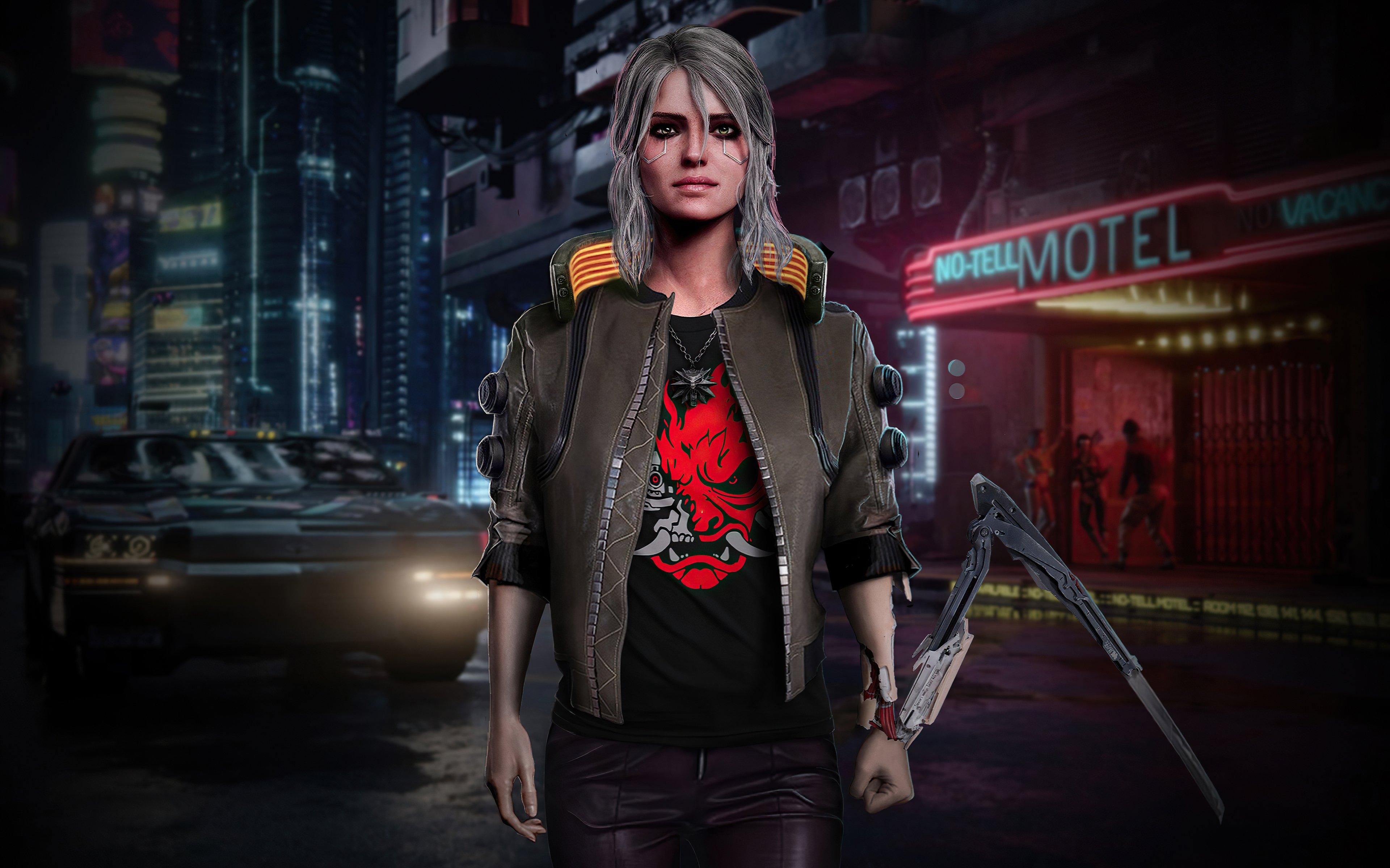 Fondos de pantalla Ciri Cyberpunk 2077 Fanart