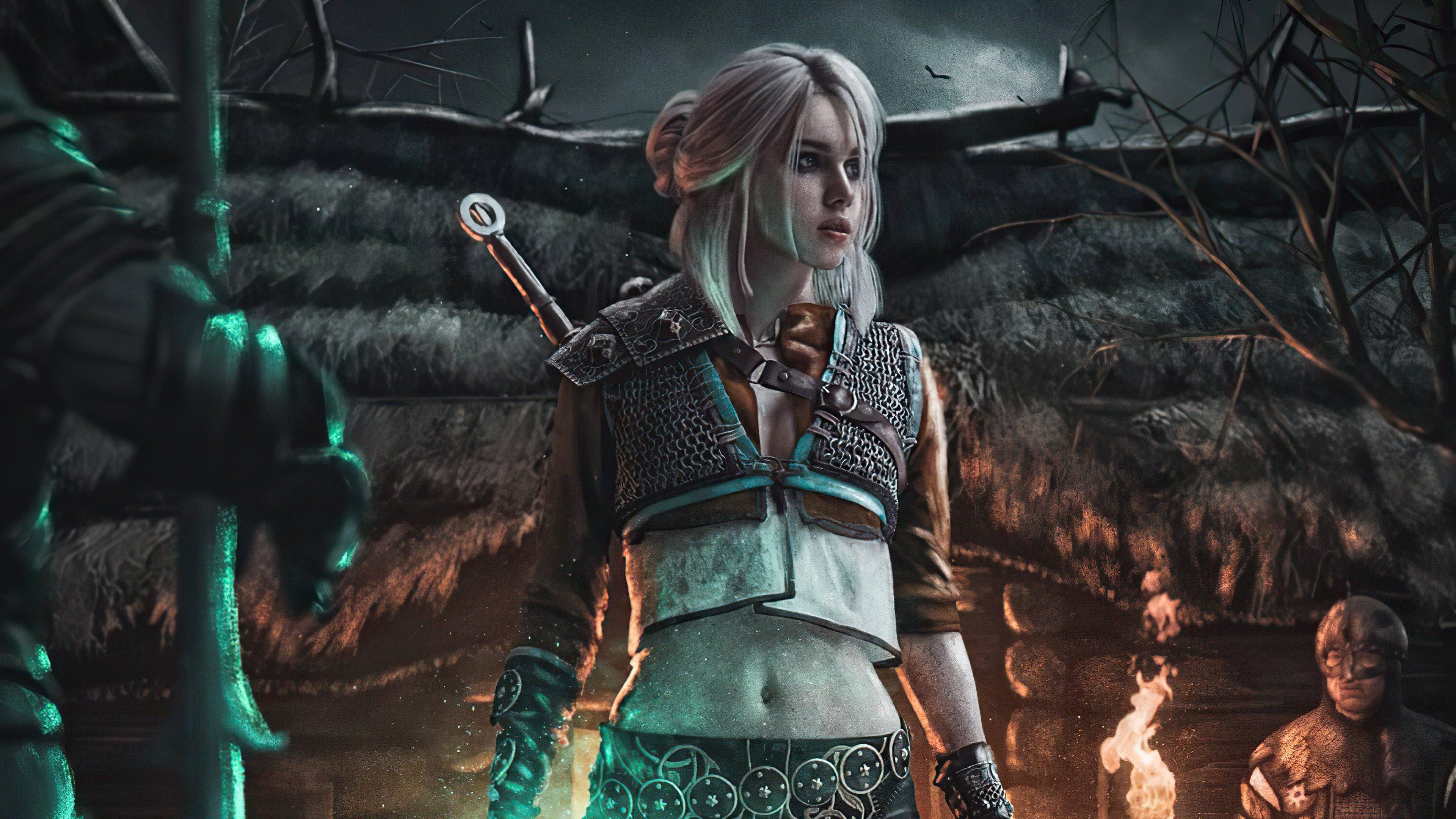 Fondos de pantalla Ciri de The Witcher 3 estilo Cyberpunk