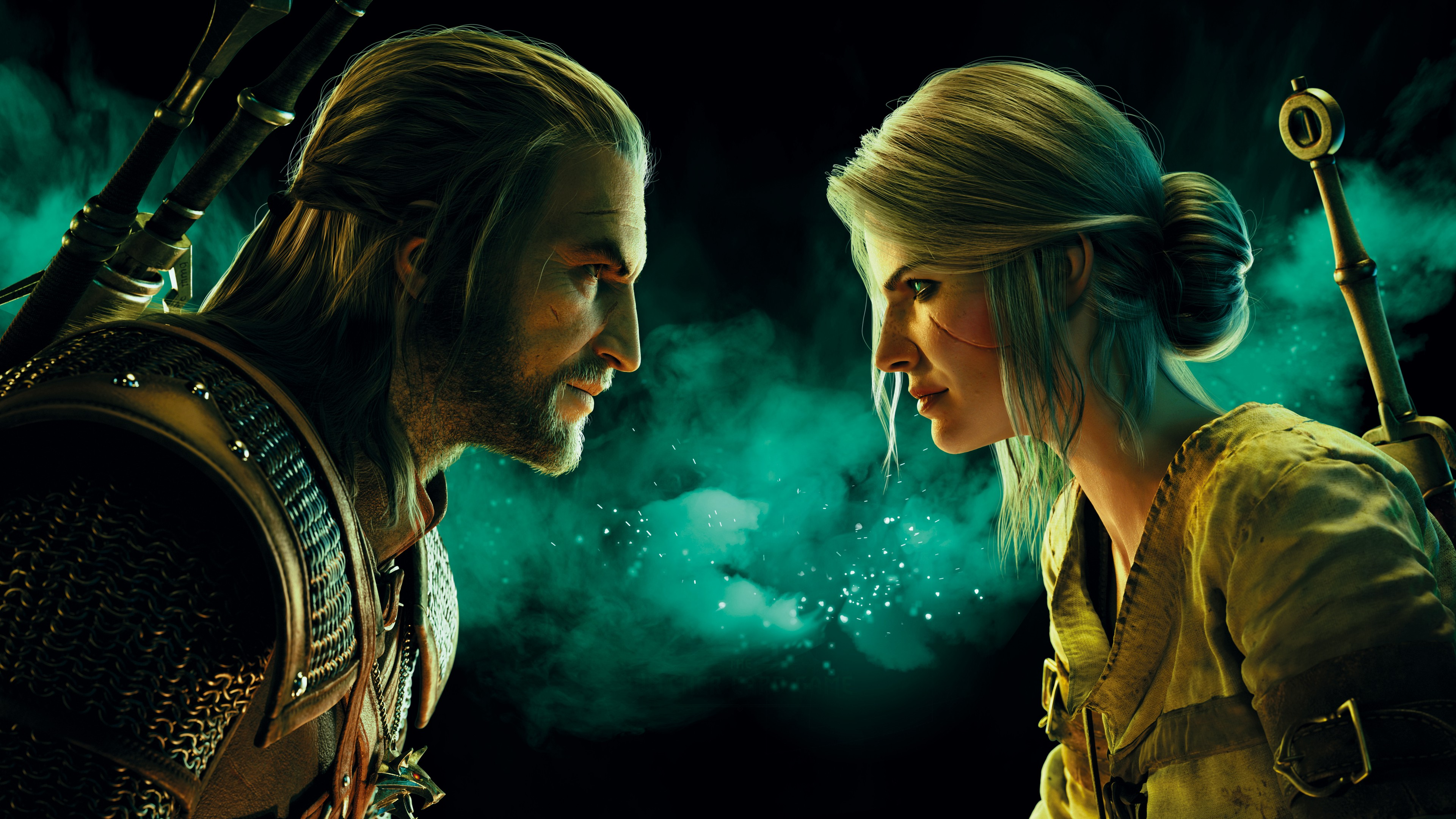 Fondos de pantalla Ciri y Geralt  de Gwent: The Witcher Card Game