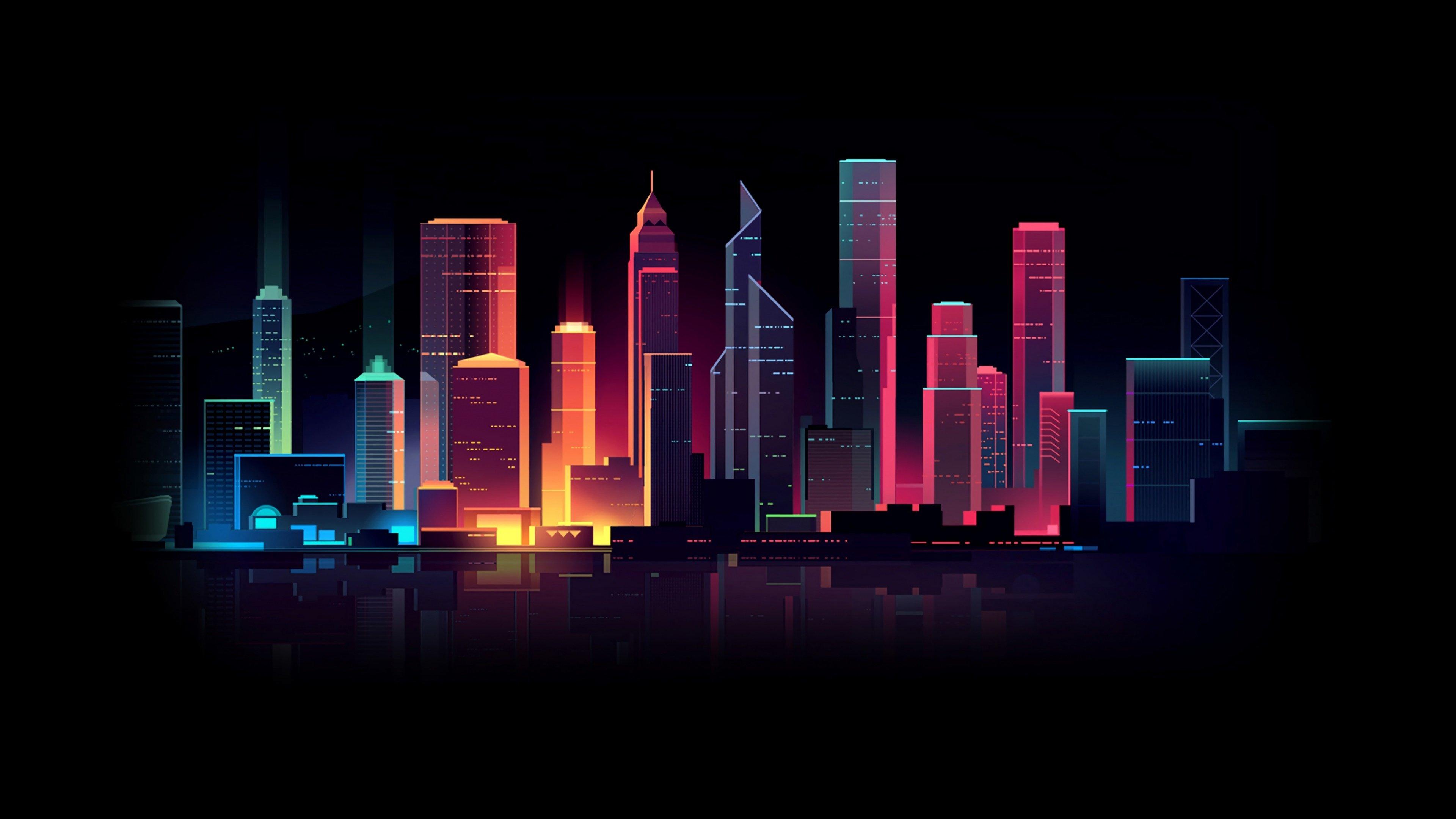 Fondos de pantalla Ciudad colores Neon