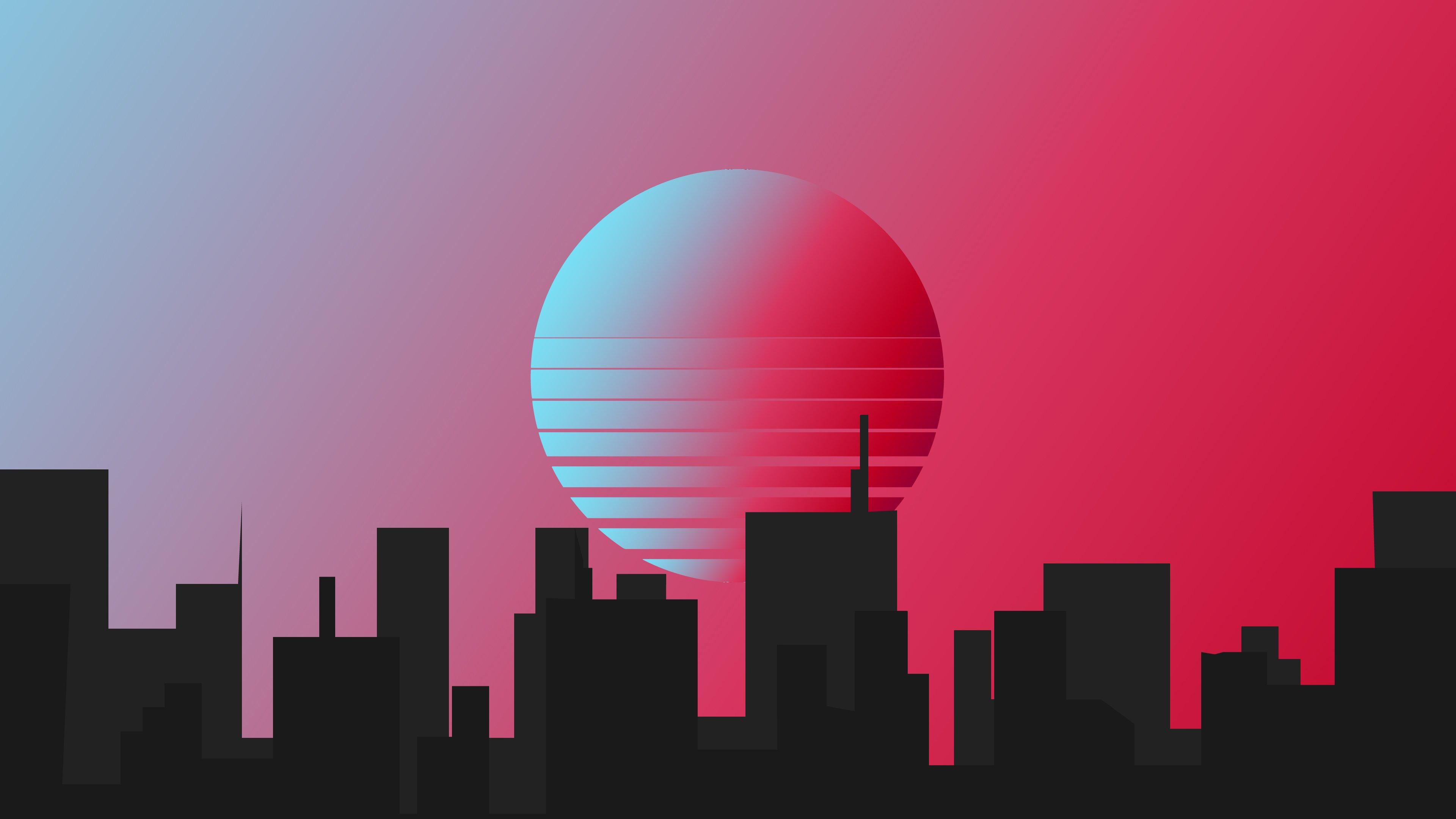 Fondos de pantalla Ciudad estilo retro minimalista