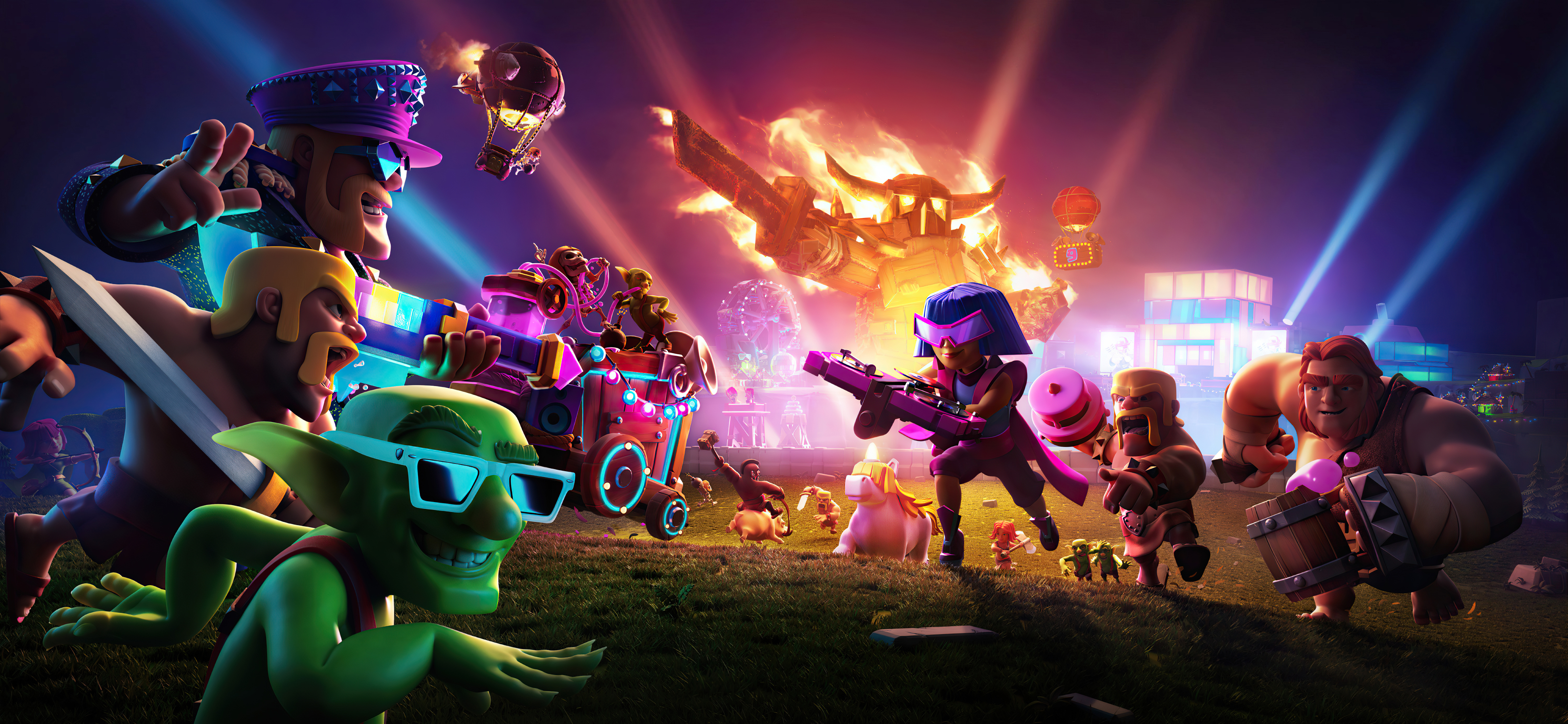 Wallpaper Clash of Clans 9th anniversary