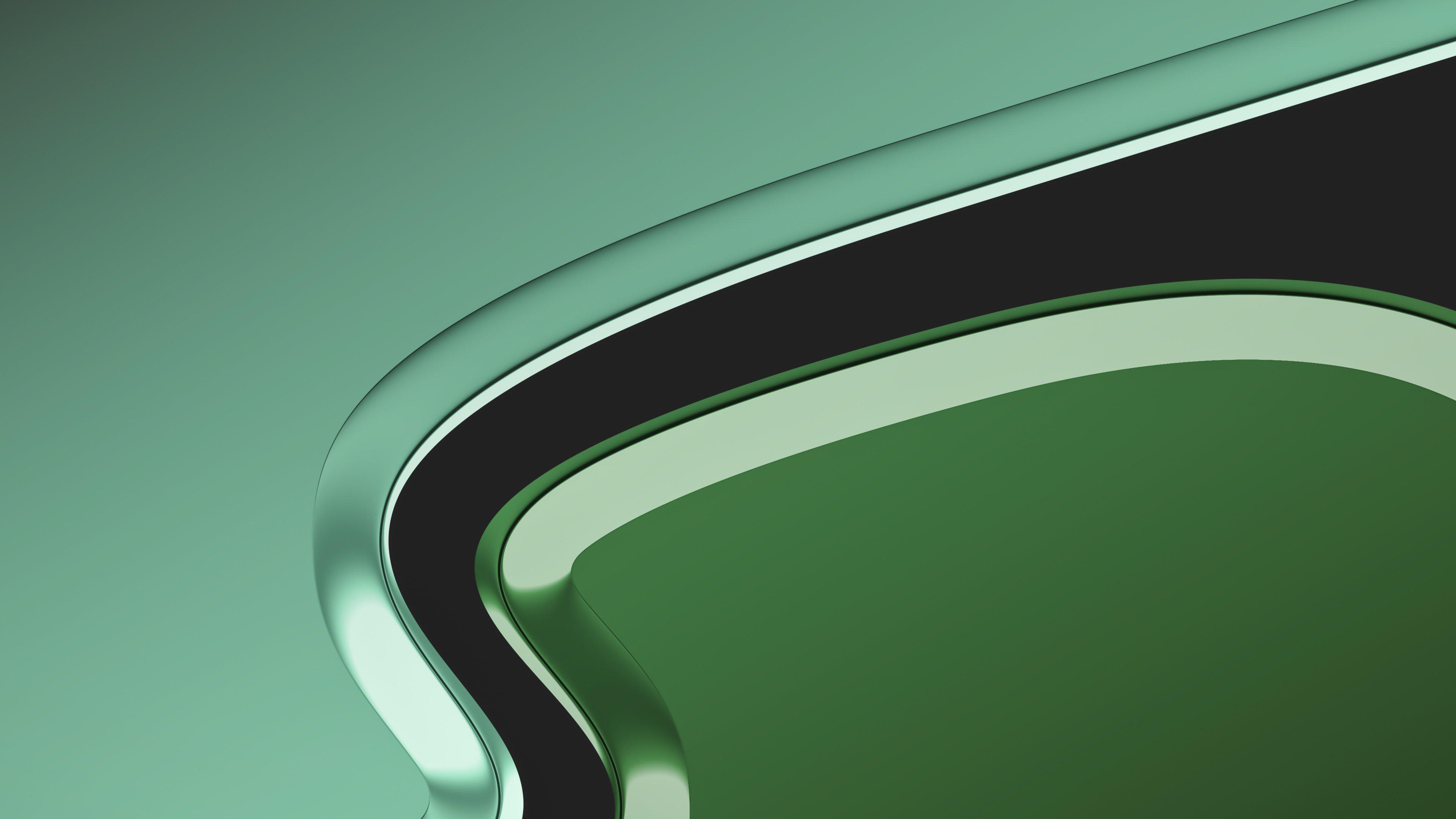 Wallpaper Green color flow