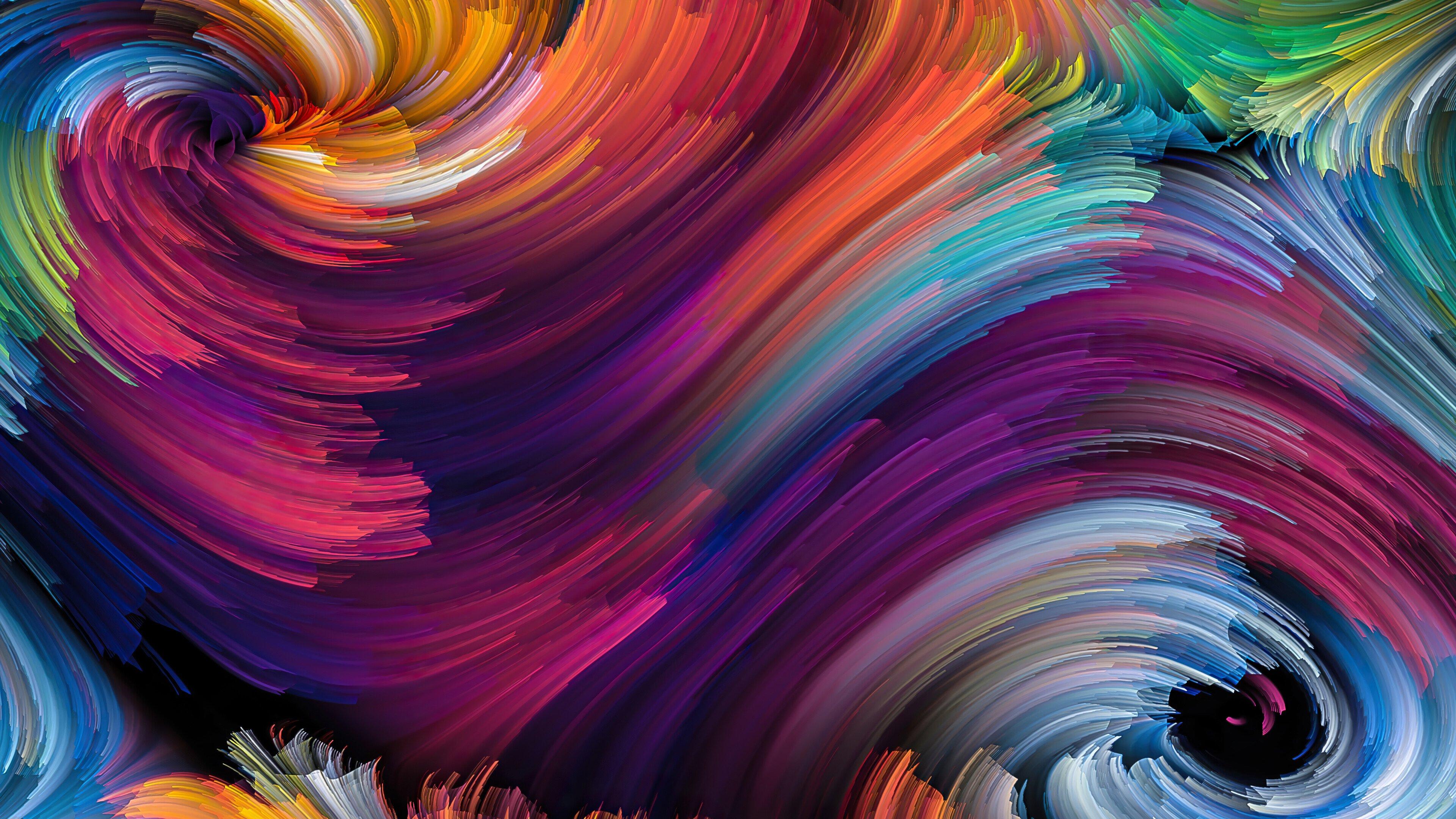 Fondos de pantalla Colores en patrón de remolino