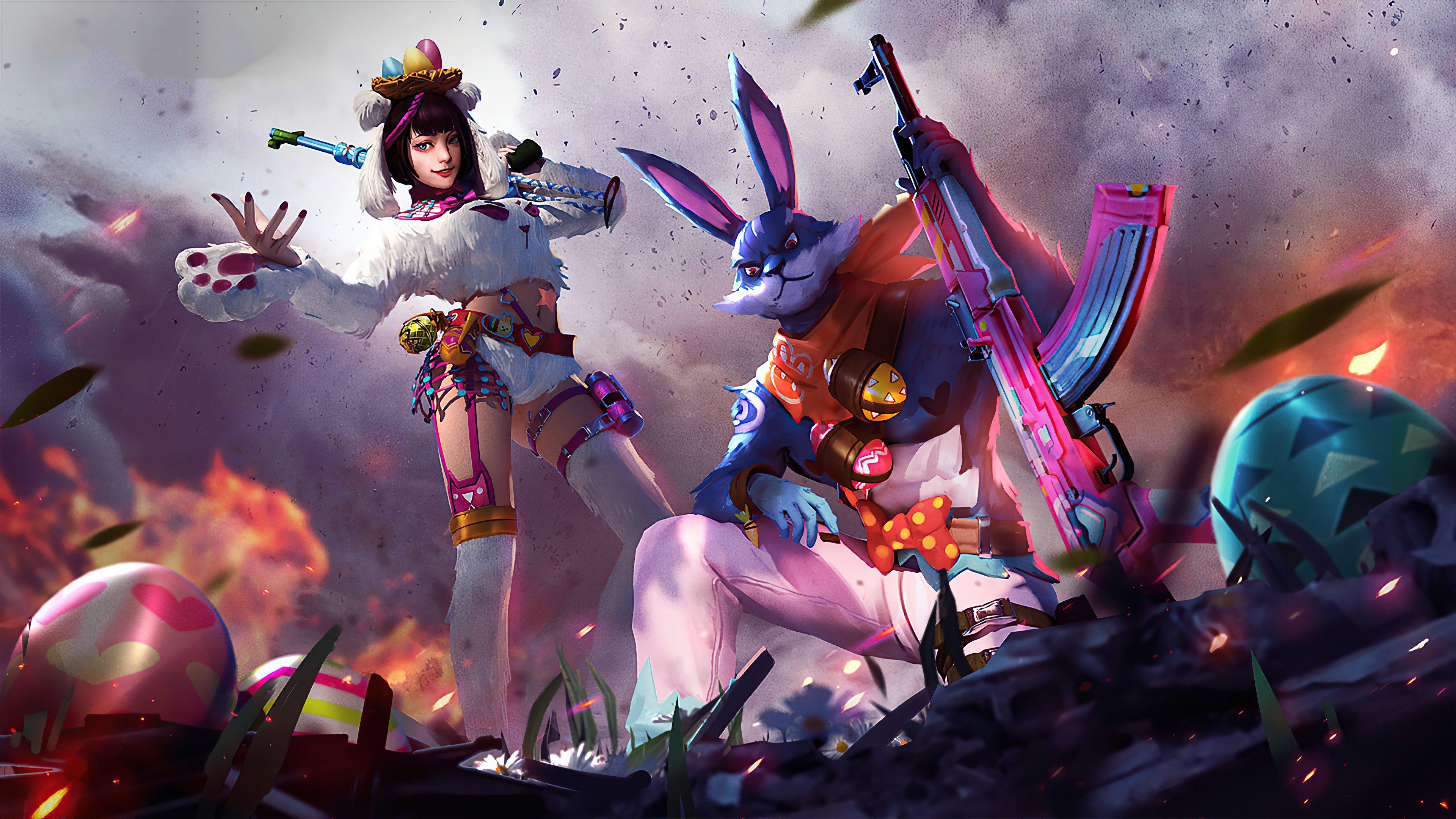 Wallpaper Garena Free Fire Bunny Warrior