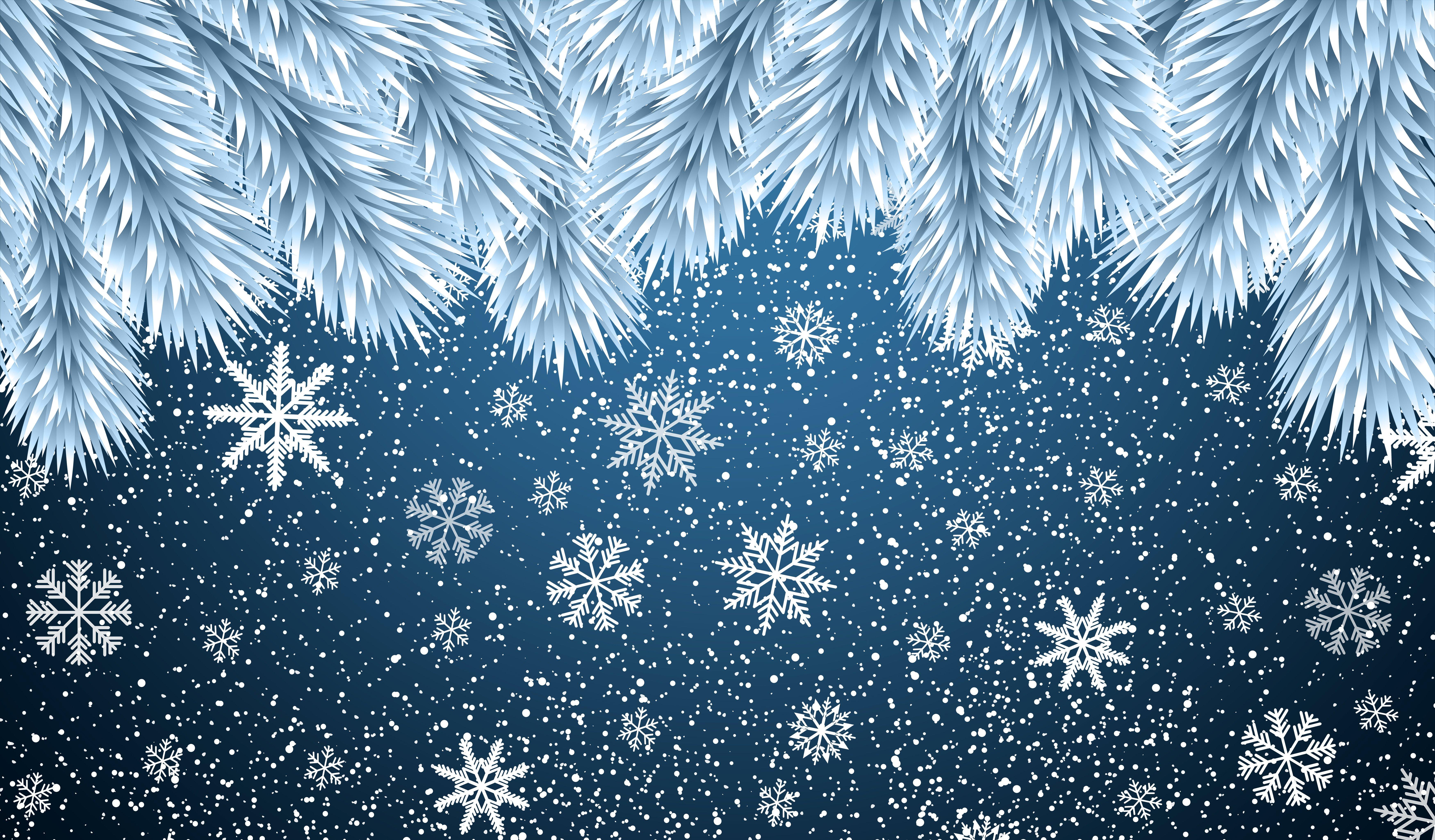Fondos de pantalla Copos de nieve de navidad
